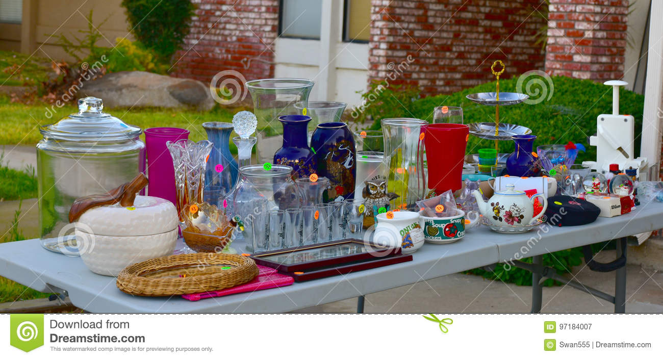 Garage Sale Yard Sale Editorial Photography. Image Of
