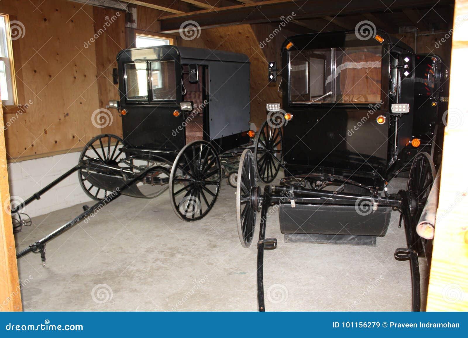 Garagem com erros na vila de Amish, o Condado de Lancaster, Pensilvânia