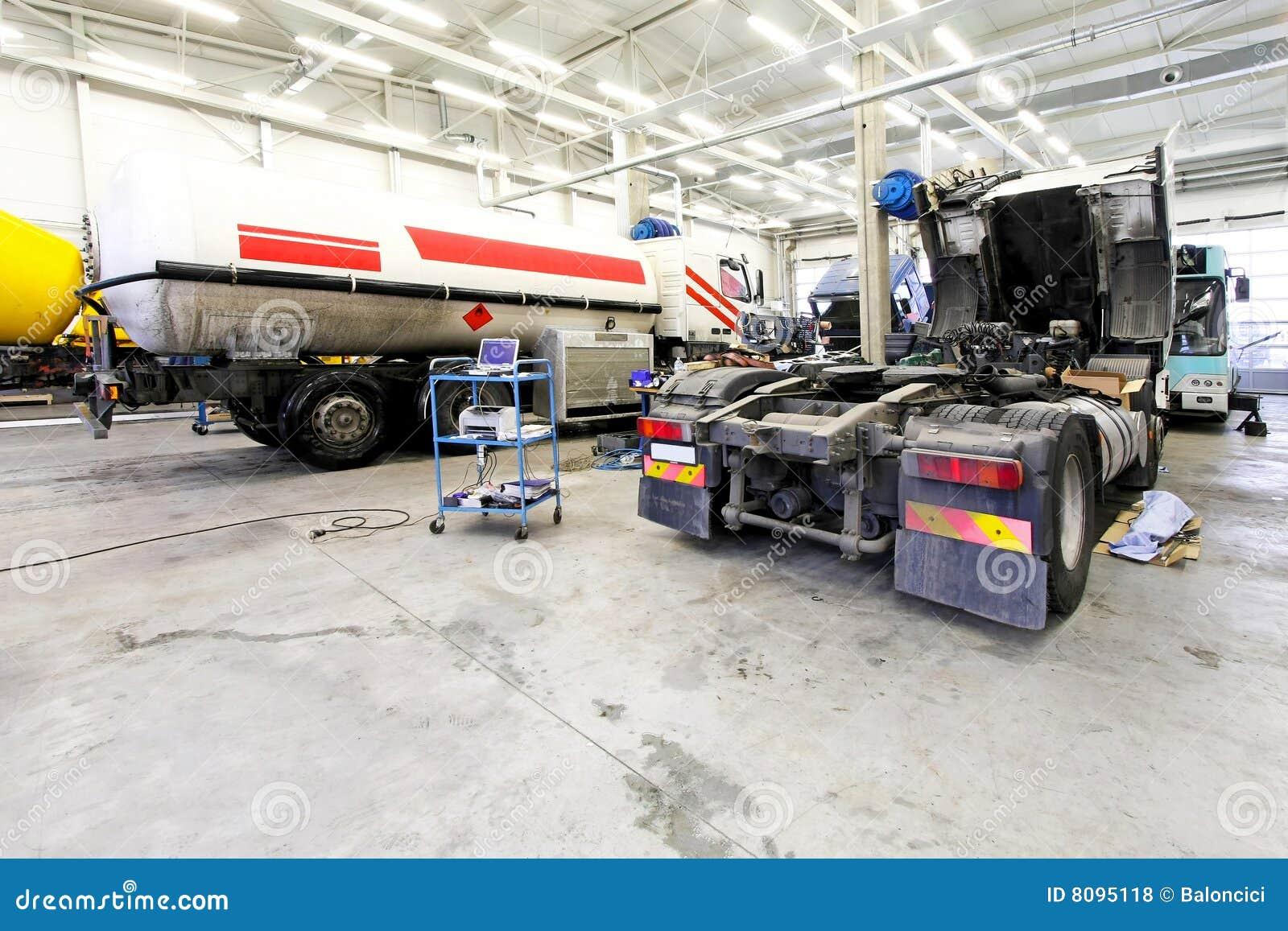 Garagem do caminhão