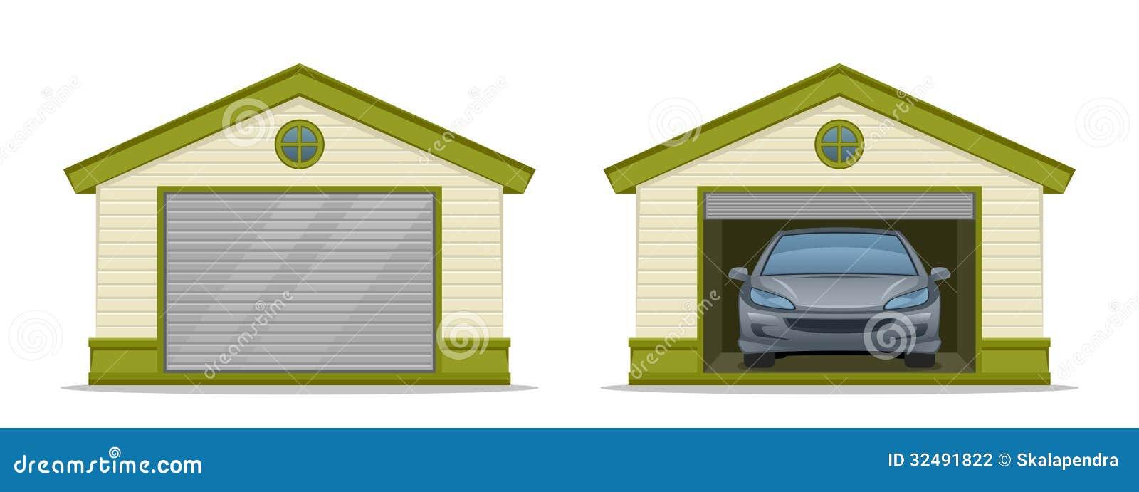 Garaje con el coche