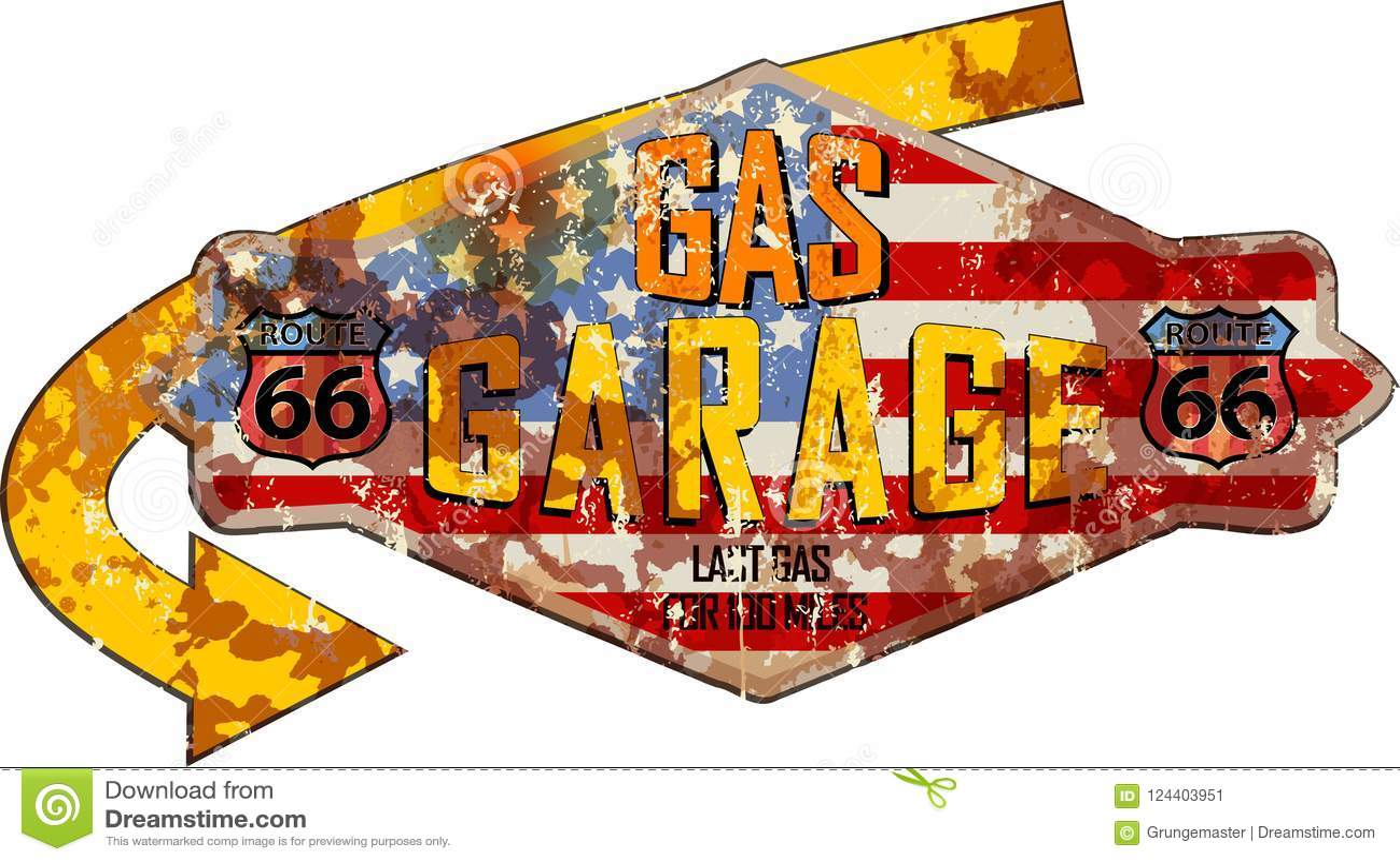 Garaje de Route 66 y muestra de la gasolinera