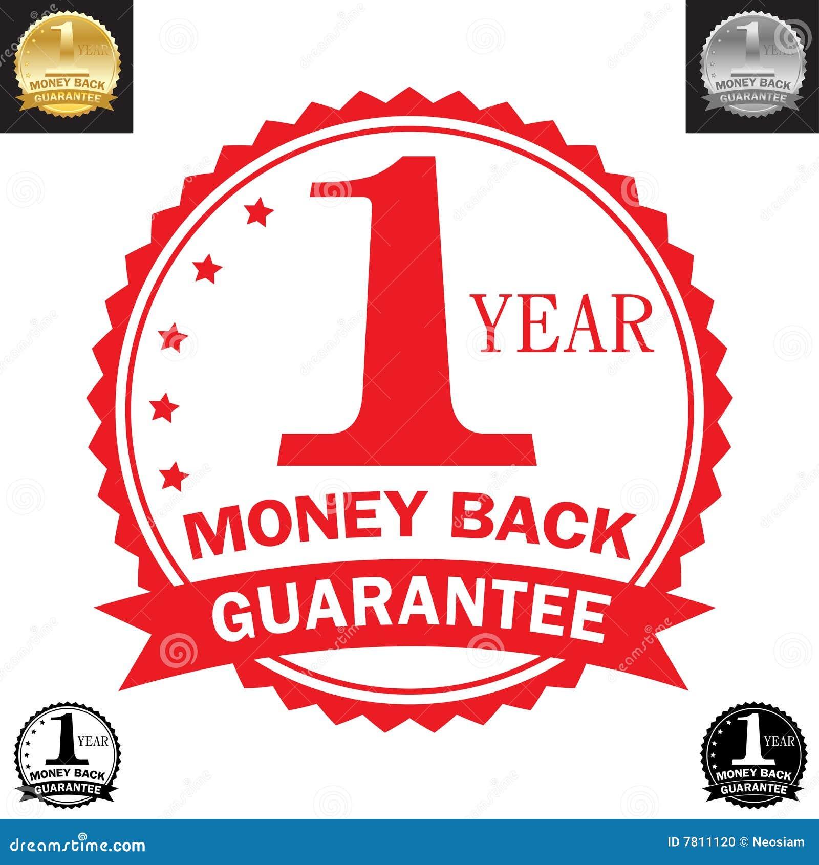 Garanzia della parte posteriore dei soldi da 1 anno