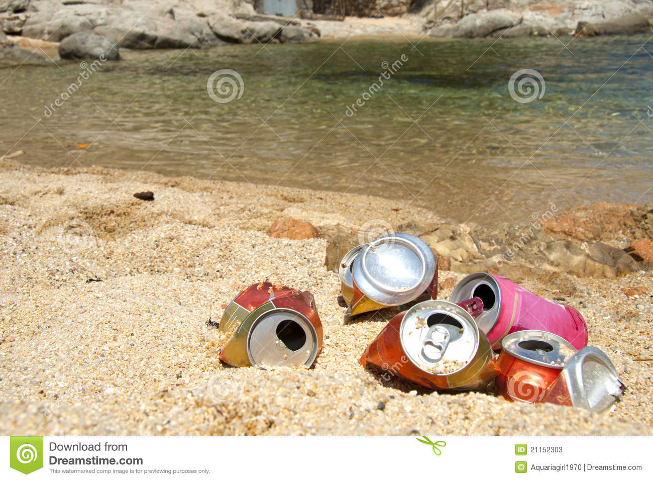 Garbage On The Beach Stock Image Image Of Stone Costa