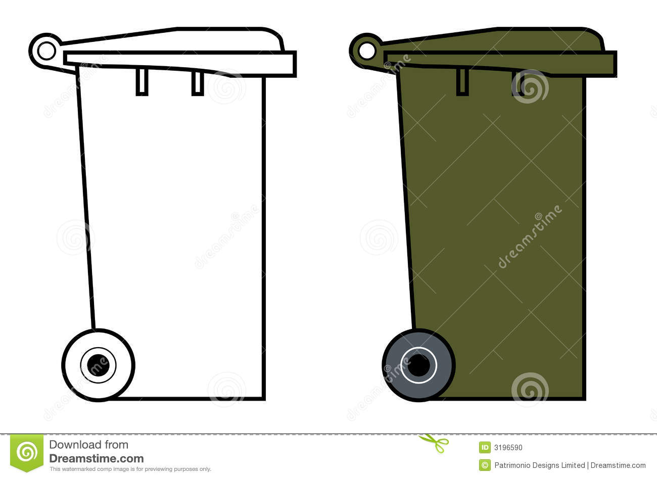 Recycle Bin Coloring Page. Garbage Dump Drawing | www.imgkid.com ...