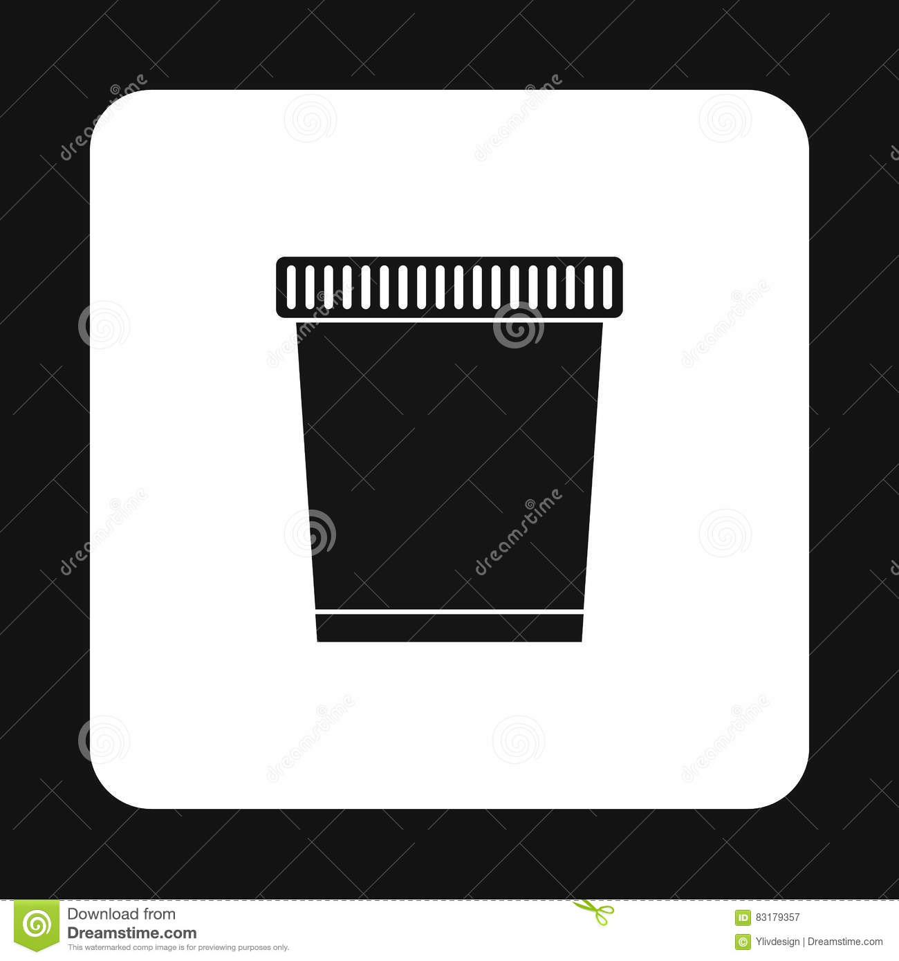 Garbage can icon, simple style