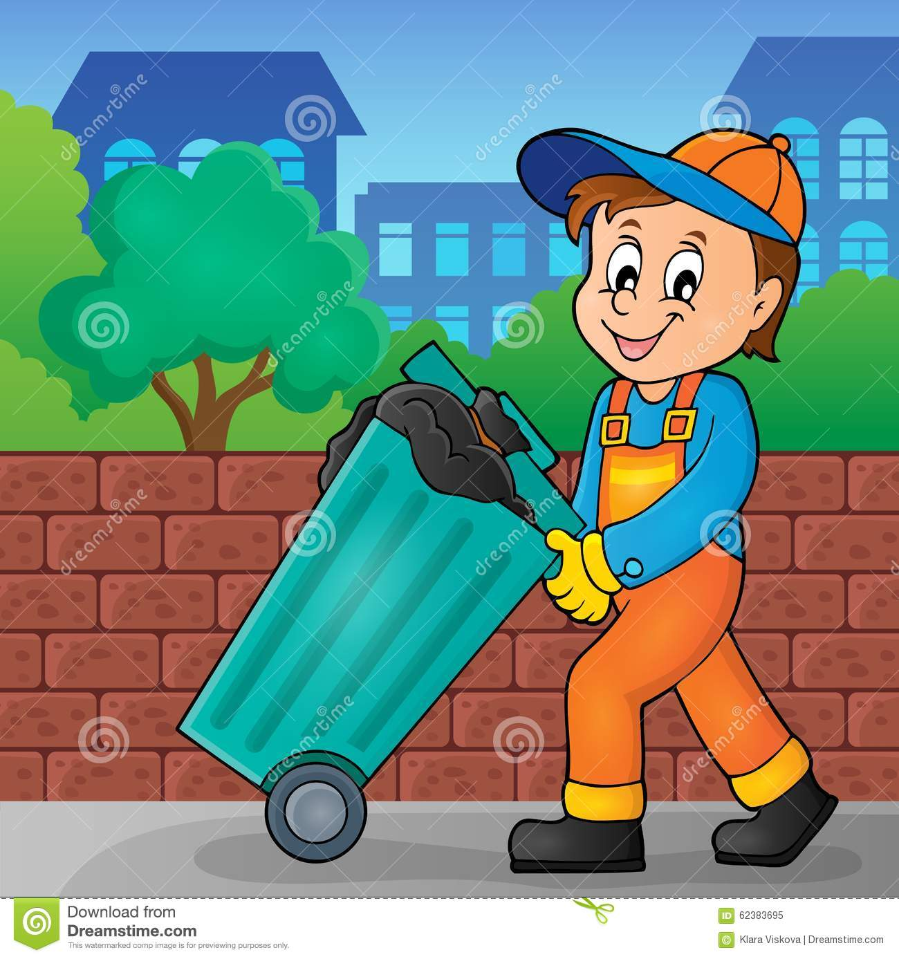 Garbage Collector Theme Image 2 Stock Vector Image 62383695