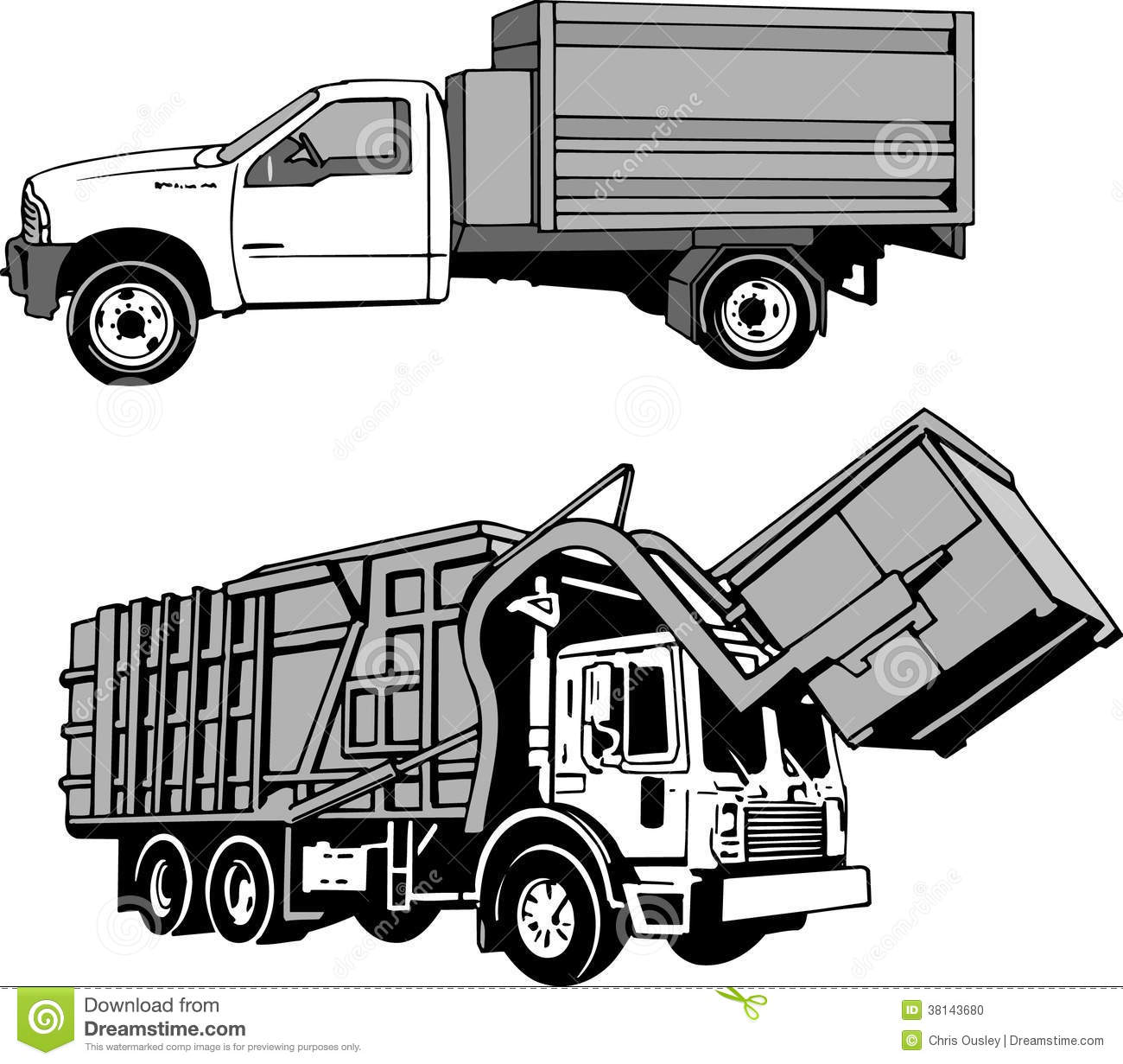Trash Compactor Garbage And Dumpster Truck Stock Photo Image 38143680