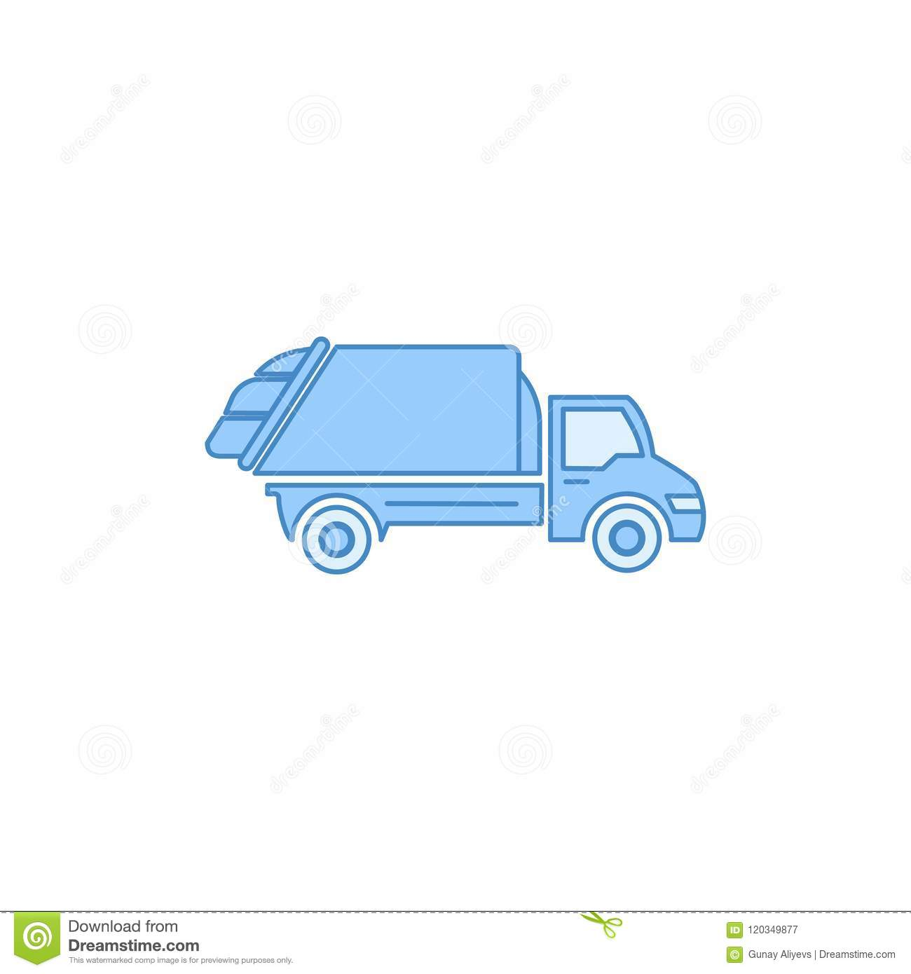 Garbage Truck Filled Outline Icon Element Of Transport For Mobile Concept And Web Apps