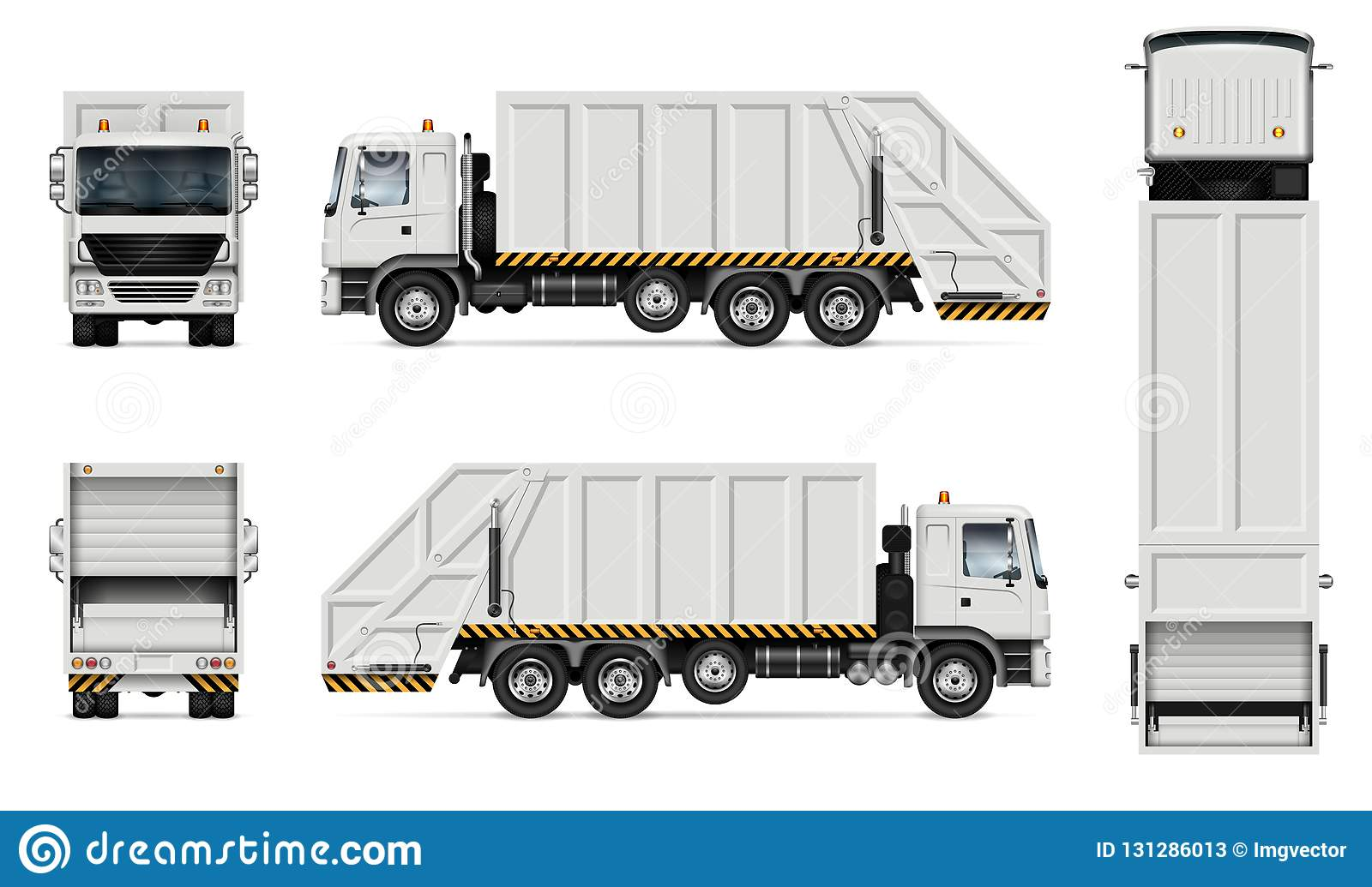garbage truck vector mockup stock vector illustration of mock