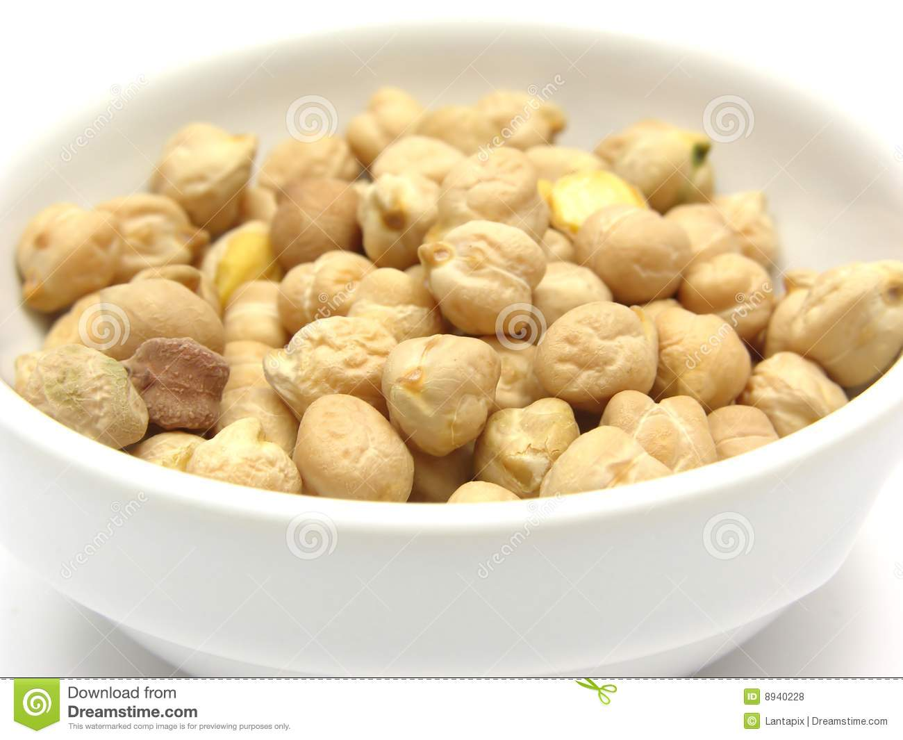 Garbanzos en blanco