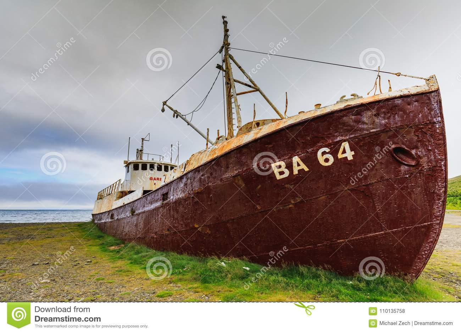 Gardar Ba 64 Ship Wreck In Patrekfjordur Editorial Stock Photo