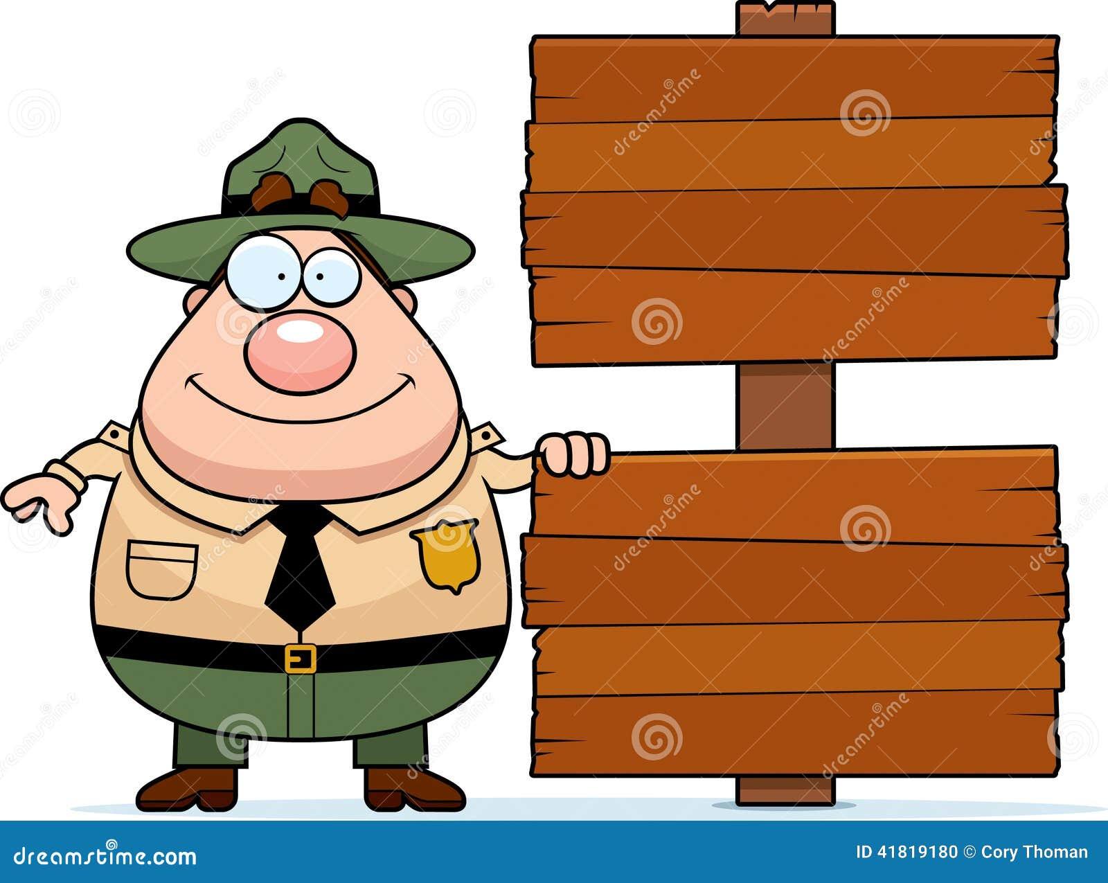 Garde forestier Sign