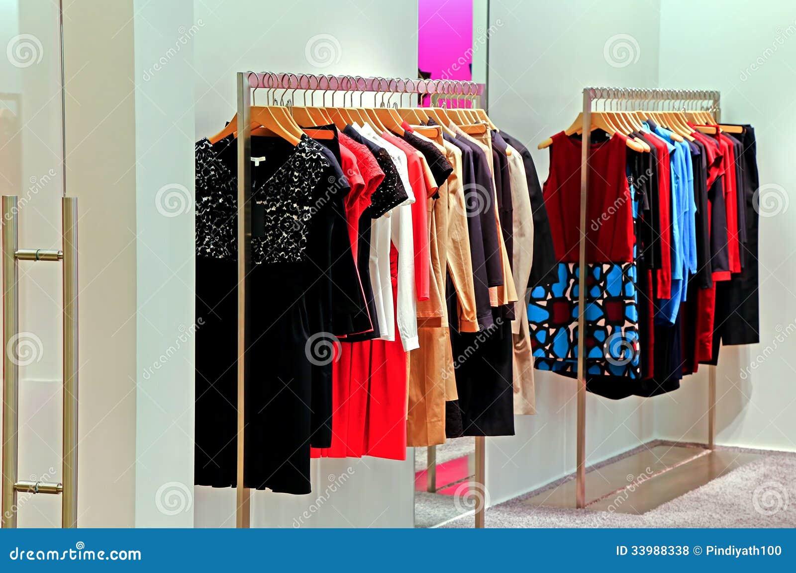 Garde-robe de magasin de mode
