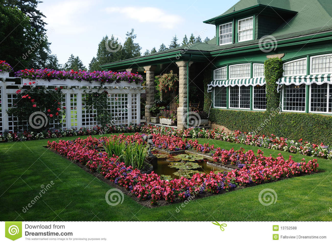 Garden royalty free stock photos image 13752588 for Garden shed victoria bc