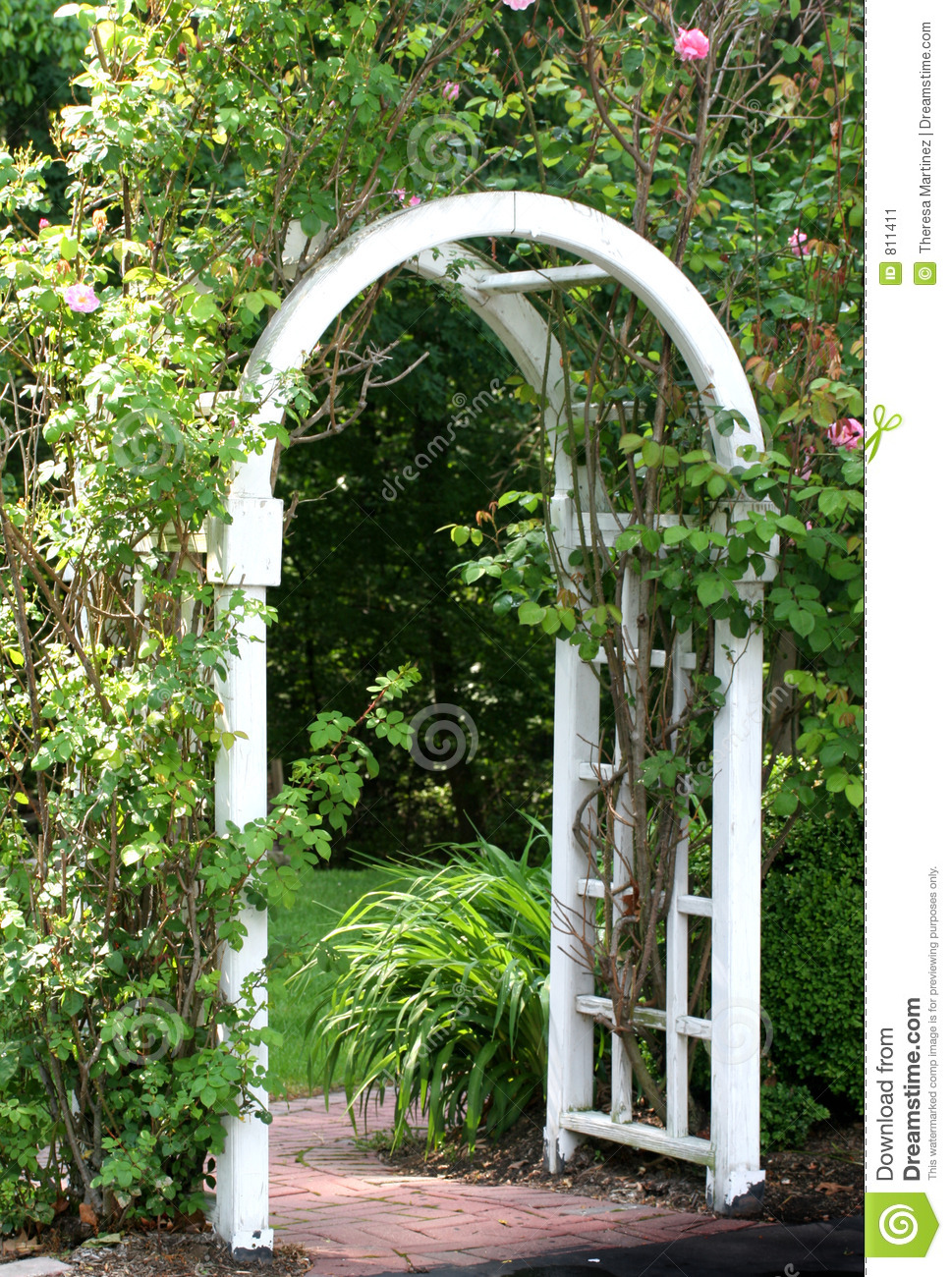 Garden Arbor Stock Image Image Of Trees Arch Entrance
