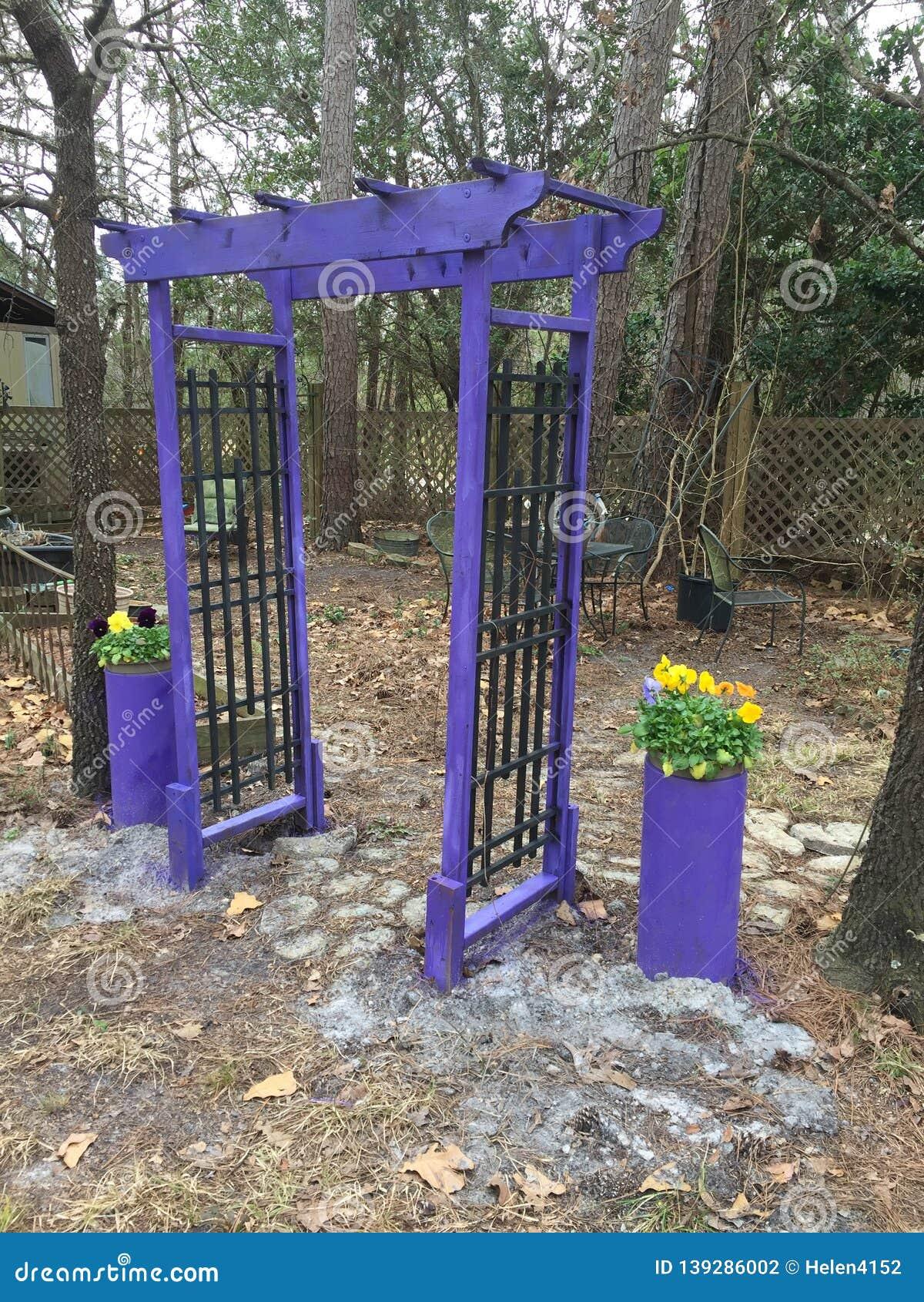 Garden Arch painted Lavender