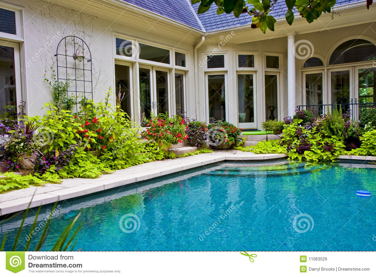 Garden around pool royalty free stock images image 11063529 for Garden near pool