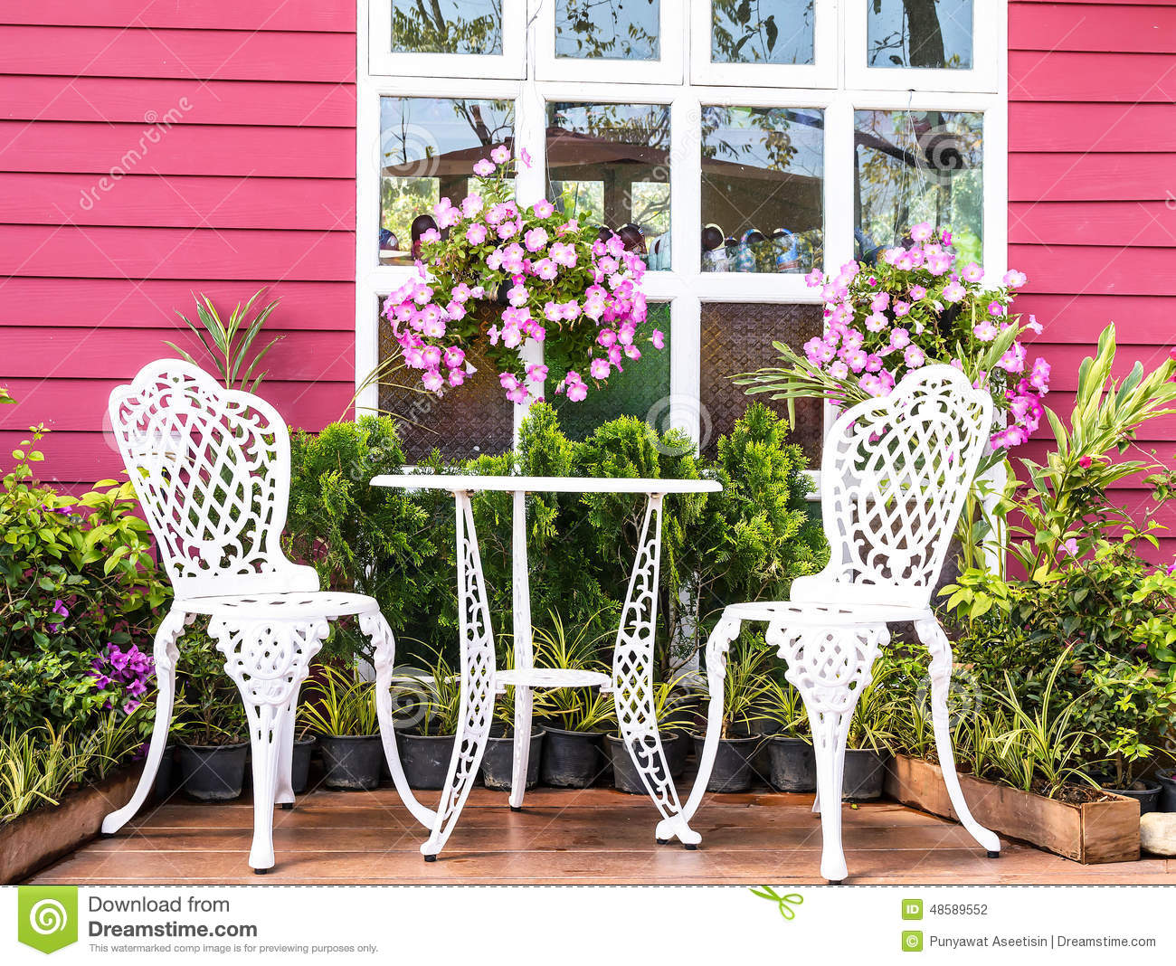 Garden Background Stock Photo Image 48589552