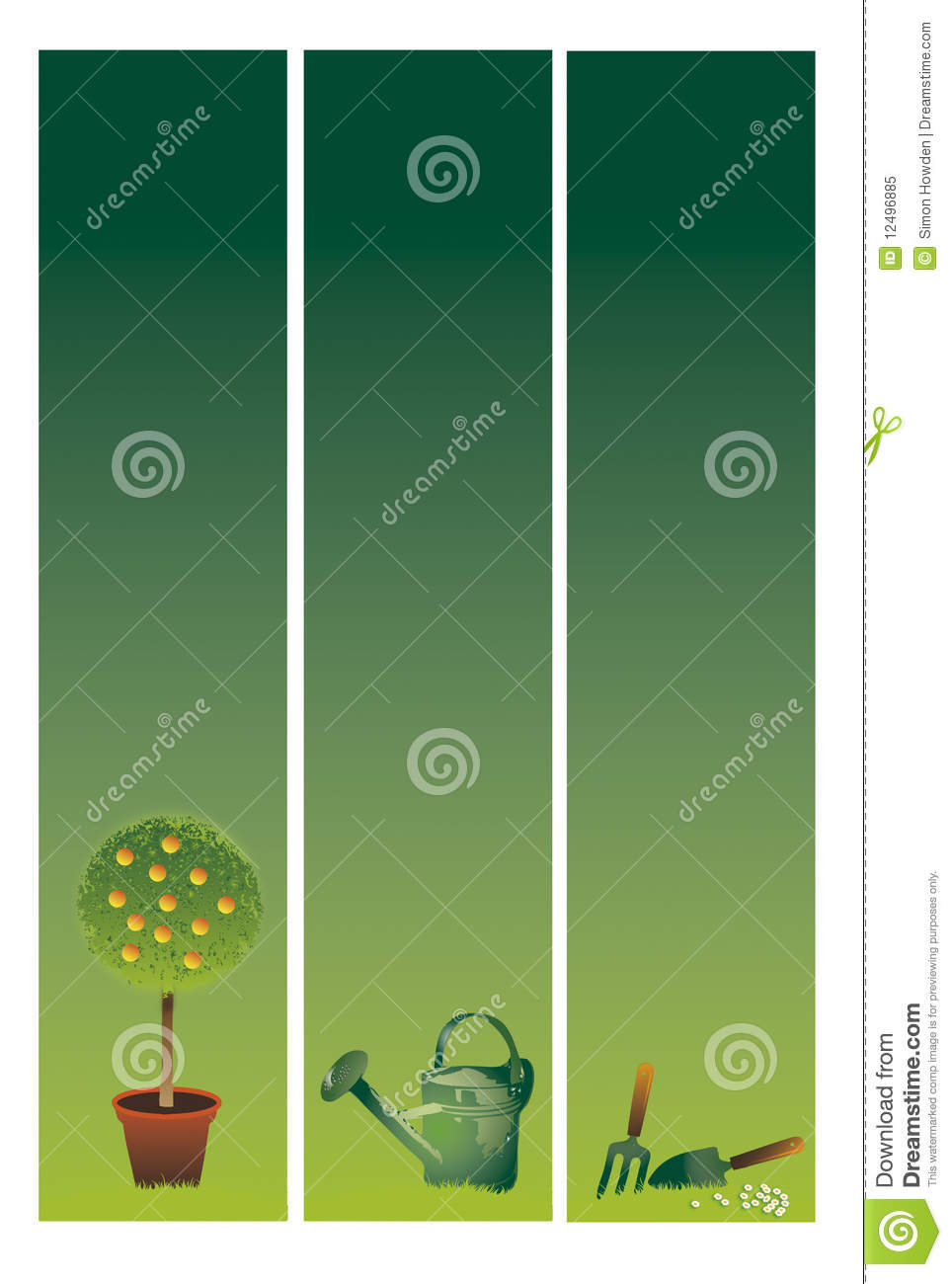 Garden Banners Royalty Free Stock Photo Image 12496885