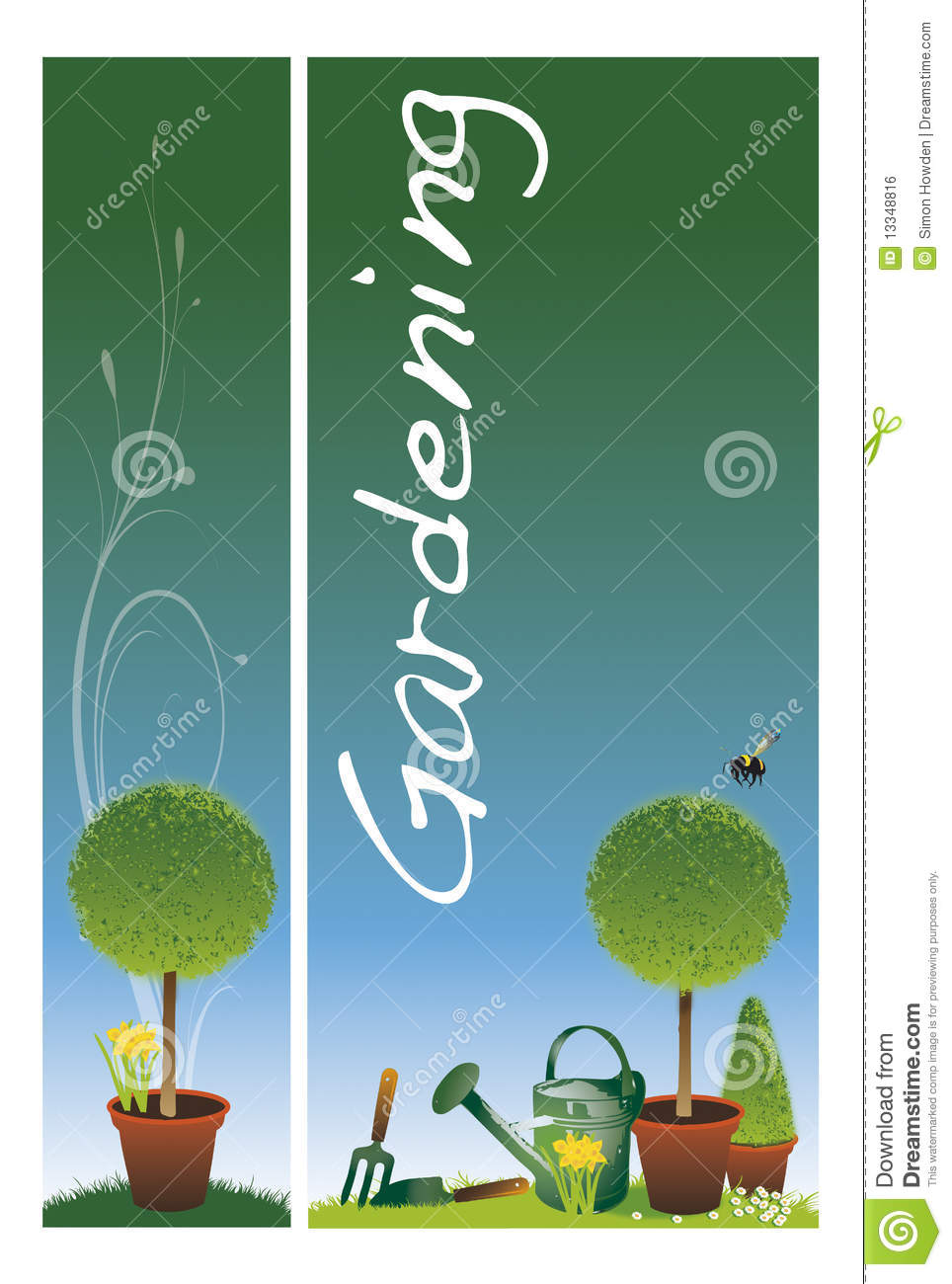 Garden Banners Royalty Free Stock Image Image 13348816