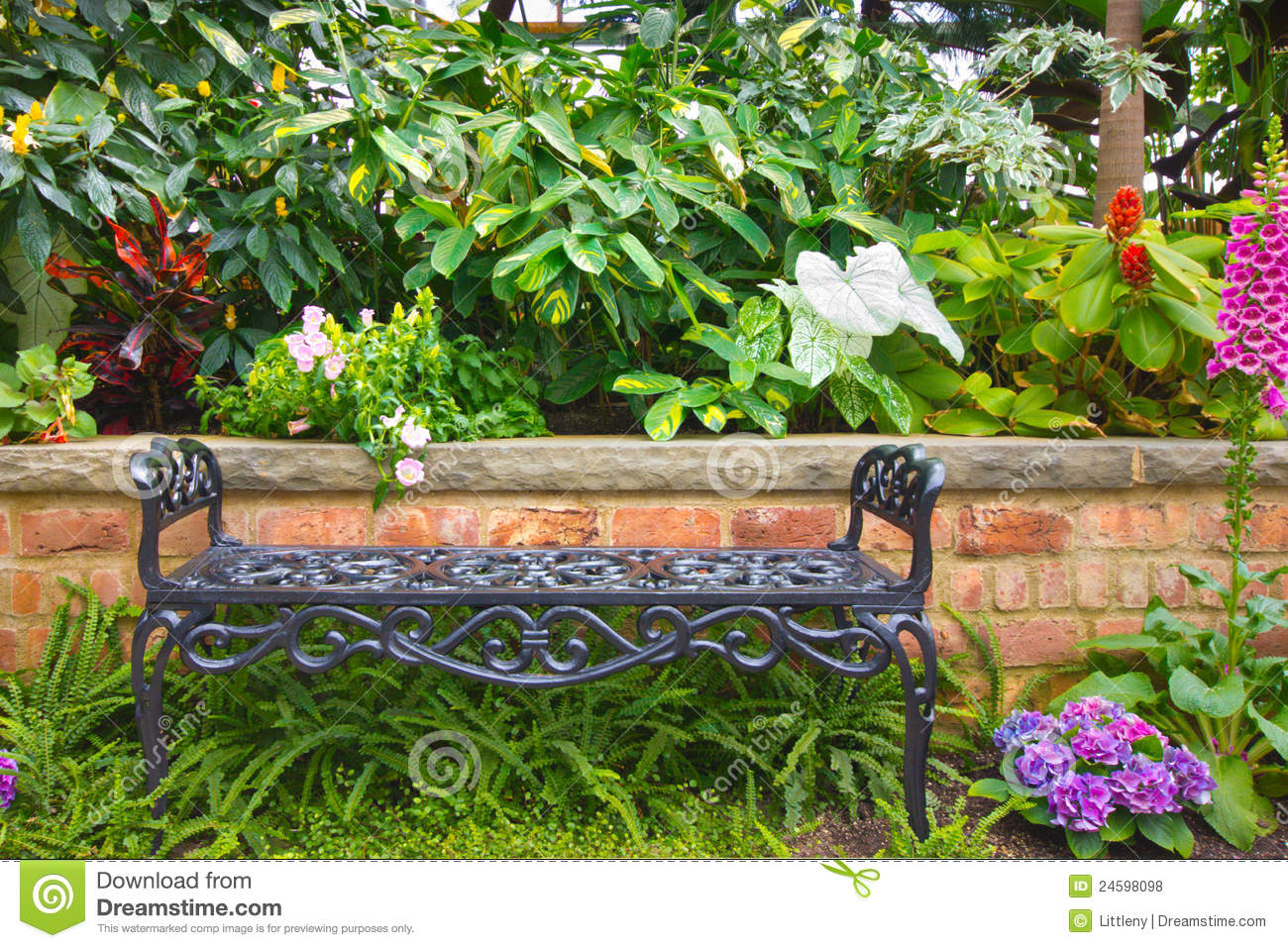 Garden Bench Royalty Free Stock Photos Image 24598098