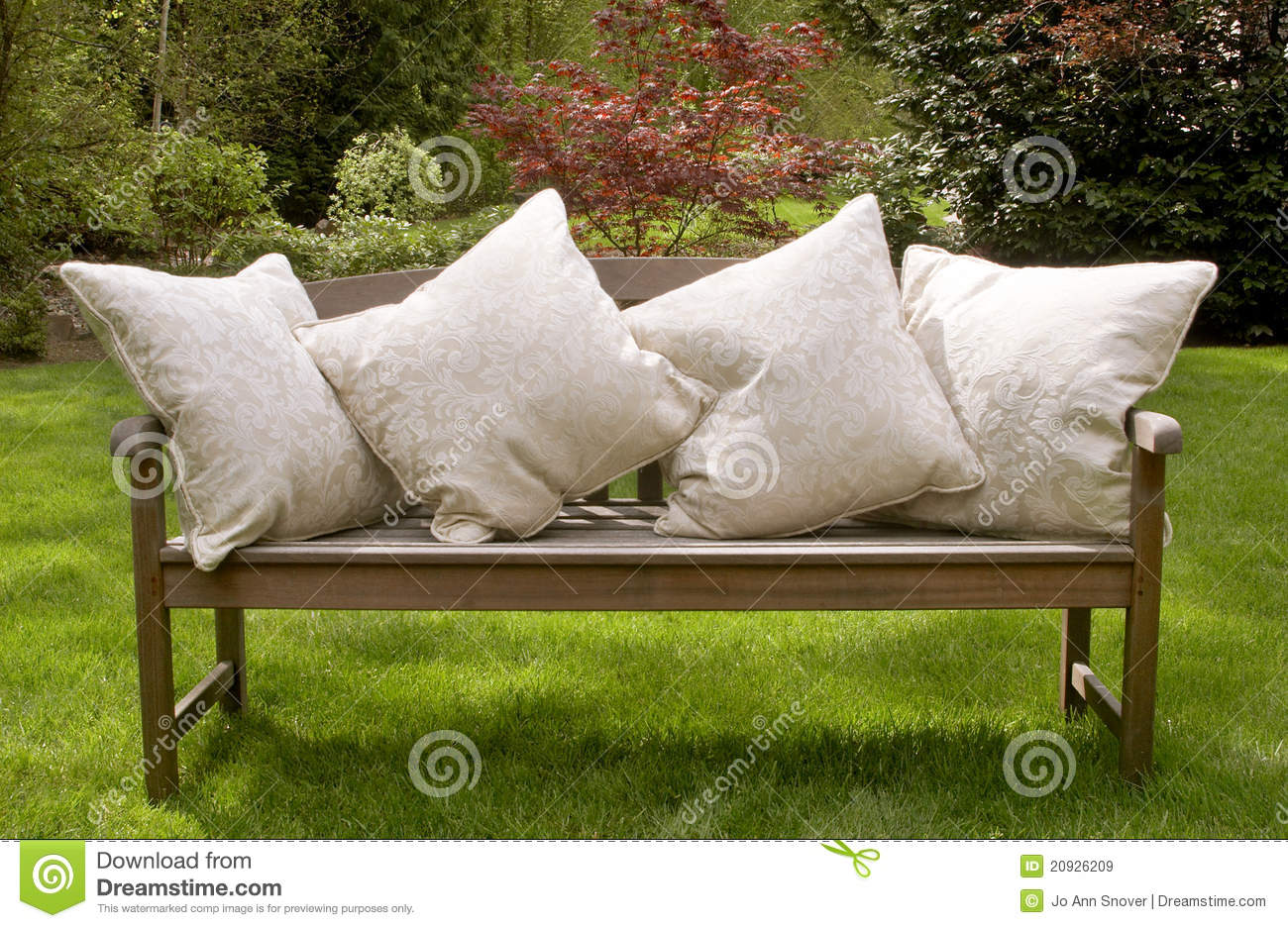 Garden Bench Cushions Stock Image Image Of Cushions 20926209