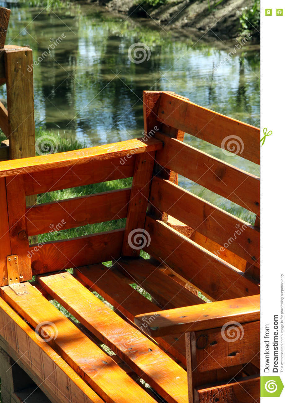 Wondrous Garden Bench For Sitting Made From Old Wooden Pallets Stock Machost Co Dining Chair Design Ideas Machostcouk