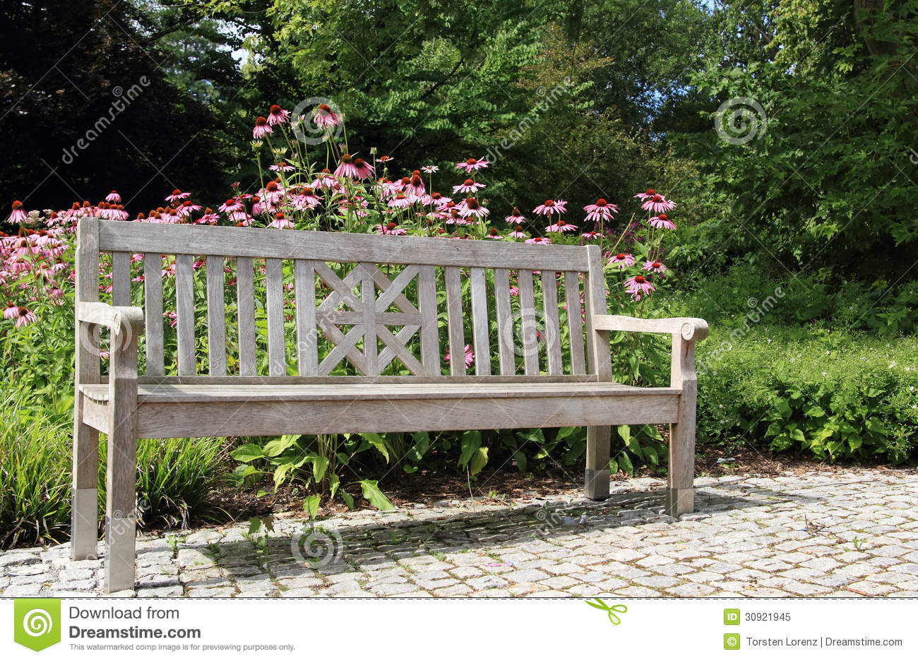 Garden bench royalty free stock photo image 30921945 for Beautiful wooden benches