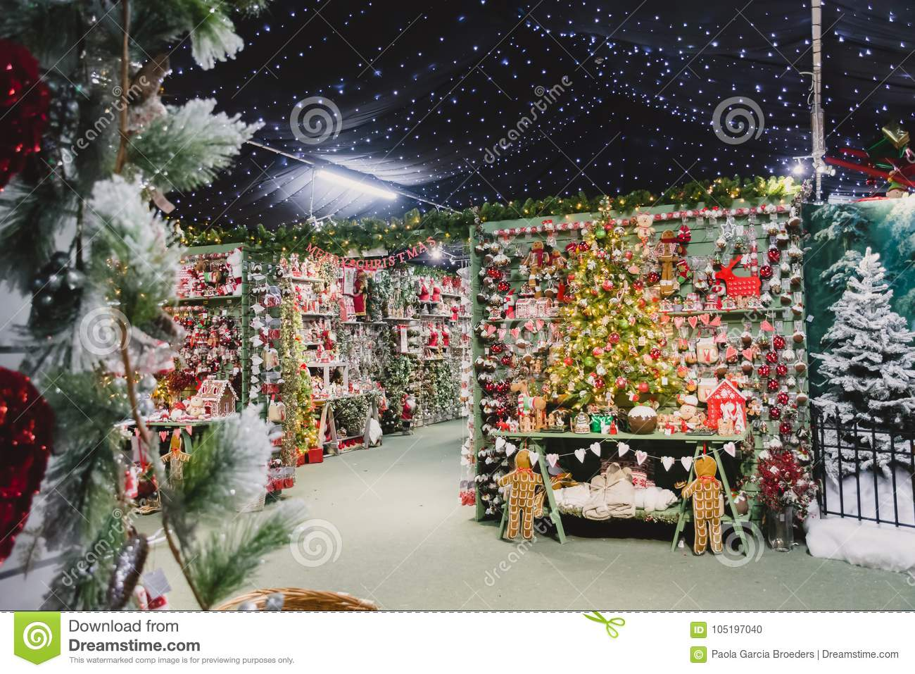 Garden Centre Decorations Editorial Image Image Of Centre 105197040