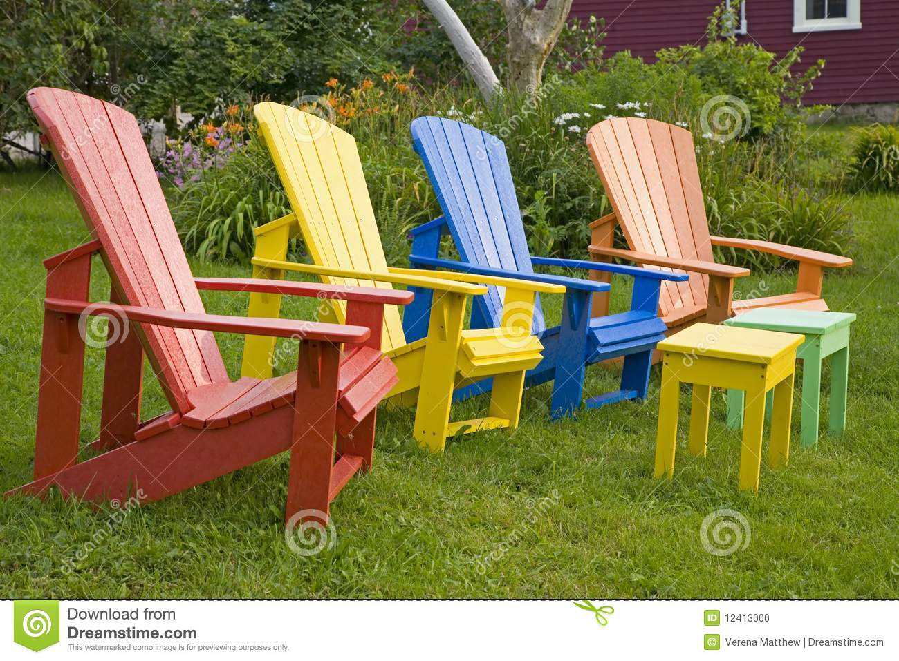 Garden Chairs Stock Photo - Image: 12413000