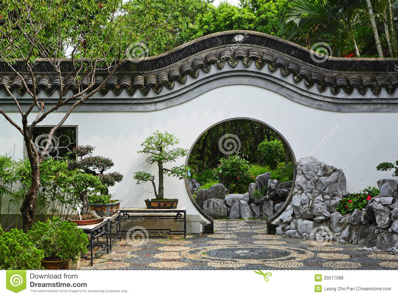 Garden In Chinese Style Stock Photo Image Of Landscape