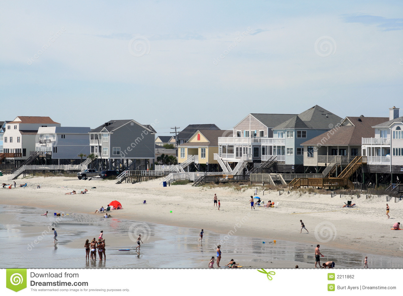 Garden City Beach Houses Stock Photography Image 2211862