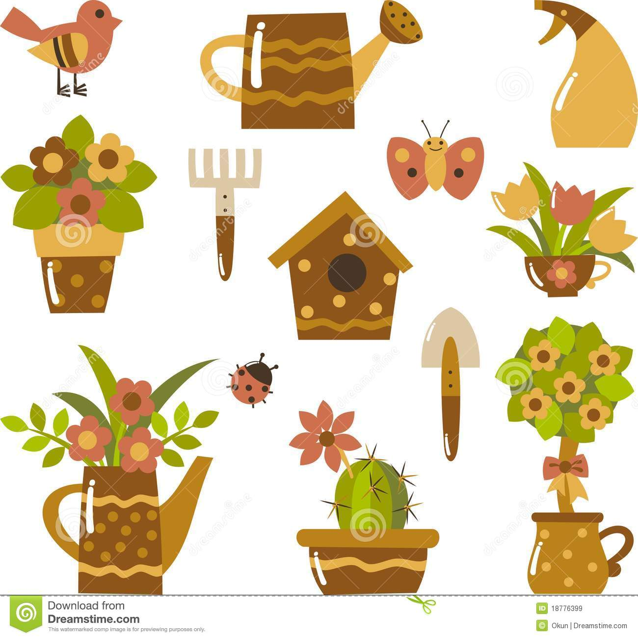 Garden Clip-art Royalty Free Stock Images - Image: 18776399