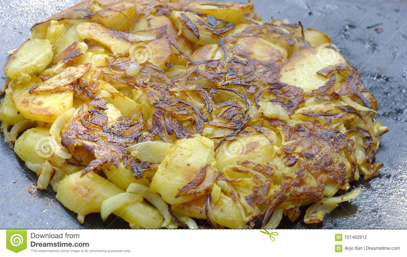 Garden Cooked Patato Frittata Stock Photo - Image of healthy, snack ...
