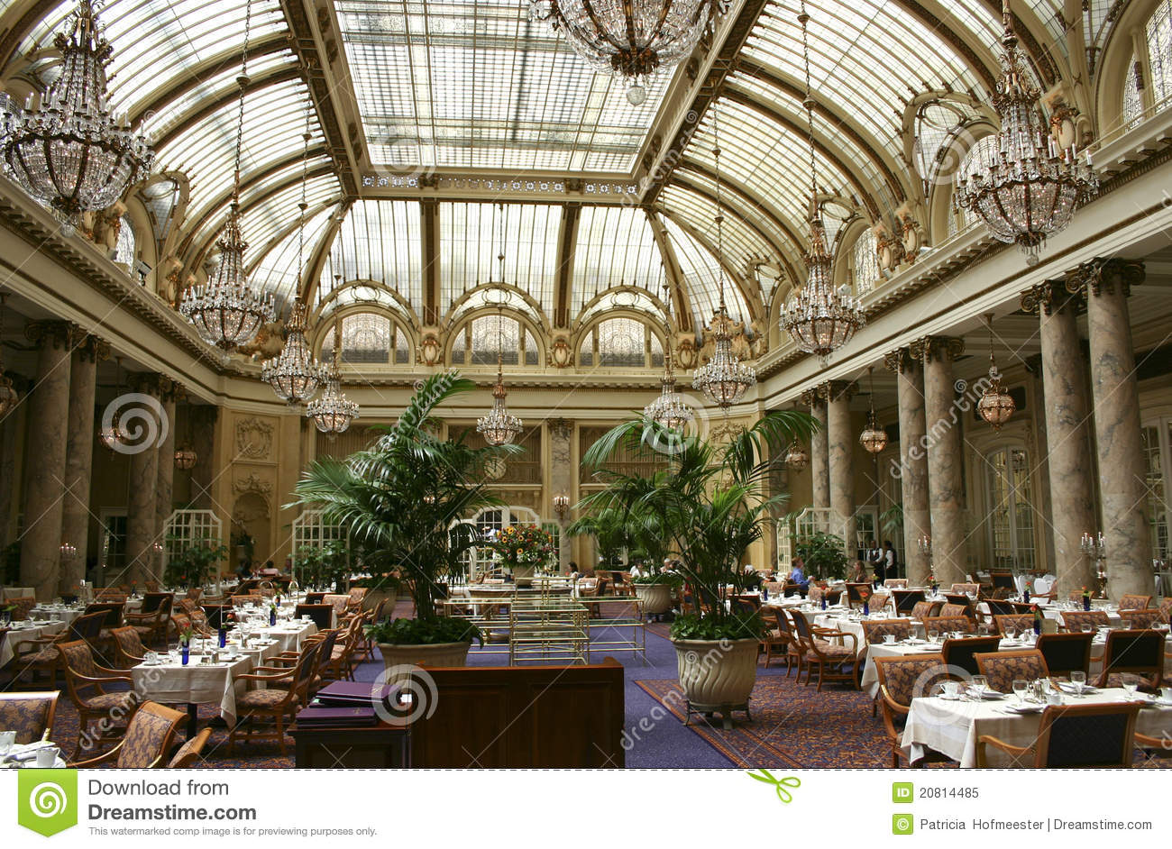 Garden Court At The Palace Hotel In San Francisco Editorial Image ...