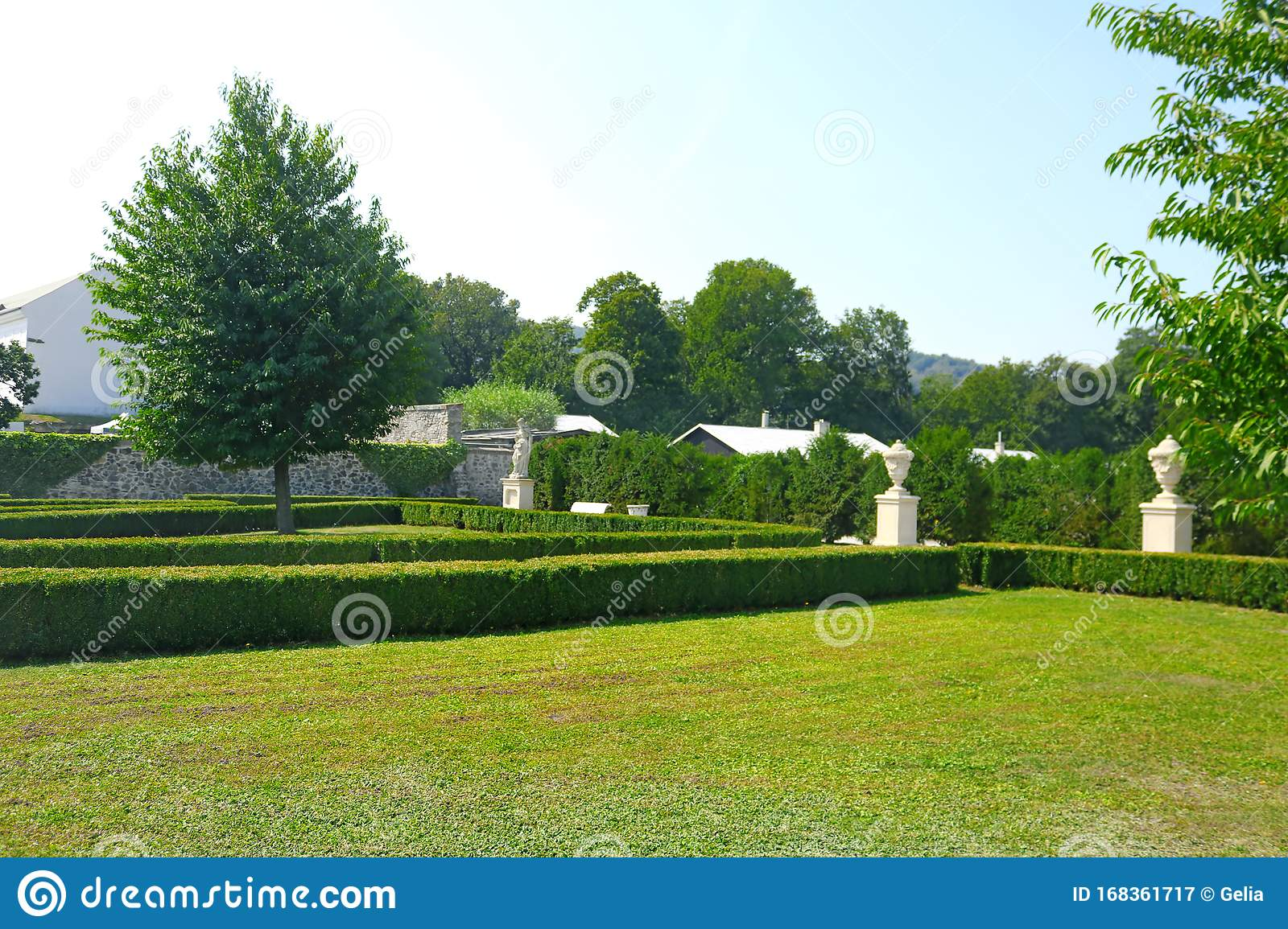 Garden And Courtyard In The Summer On The Site Of Red Stone Castle In Slovakia Stock Image Image Of Famous Courtyard 168361717