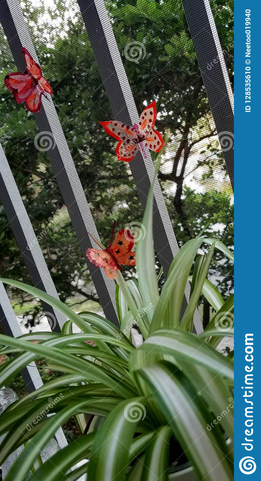 Garden decor by butterfly stock photo. Image of idea - 8