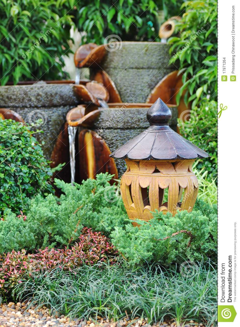 Garden decoration stock photo. Image of relax, pottery - 17971264