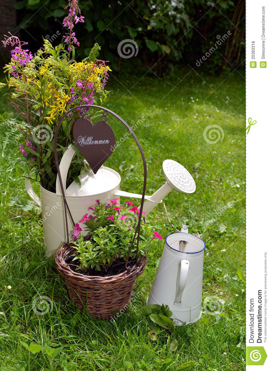 Garden decoration flower heart royalty free stock photos for Flower garden decorations