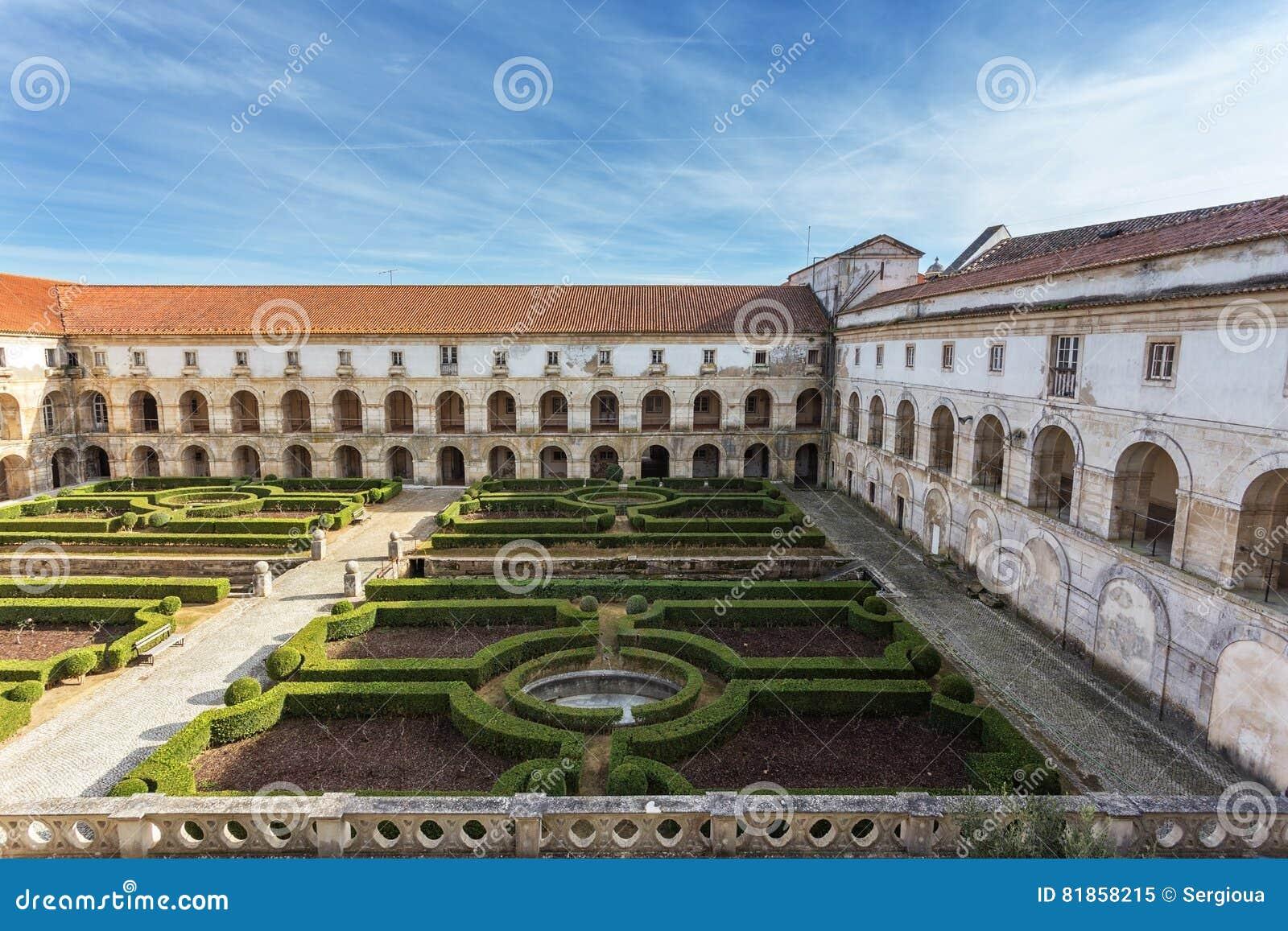 Garden Decoration inner courtyard of the castle Alcobaca