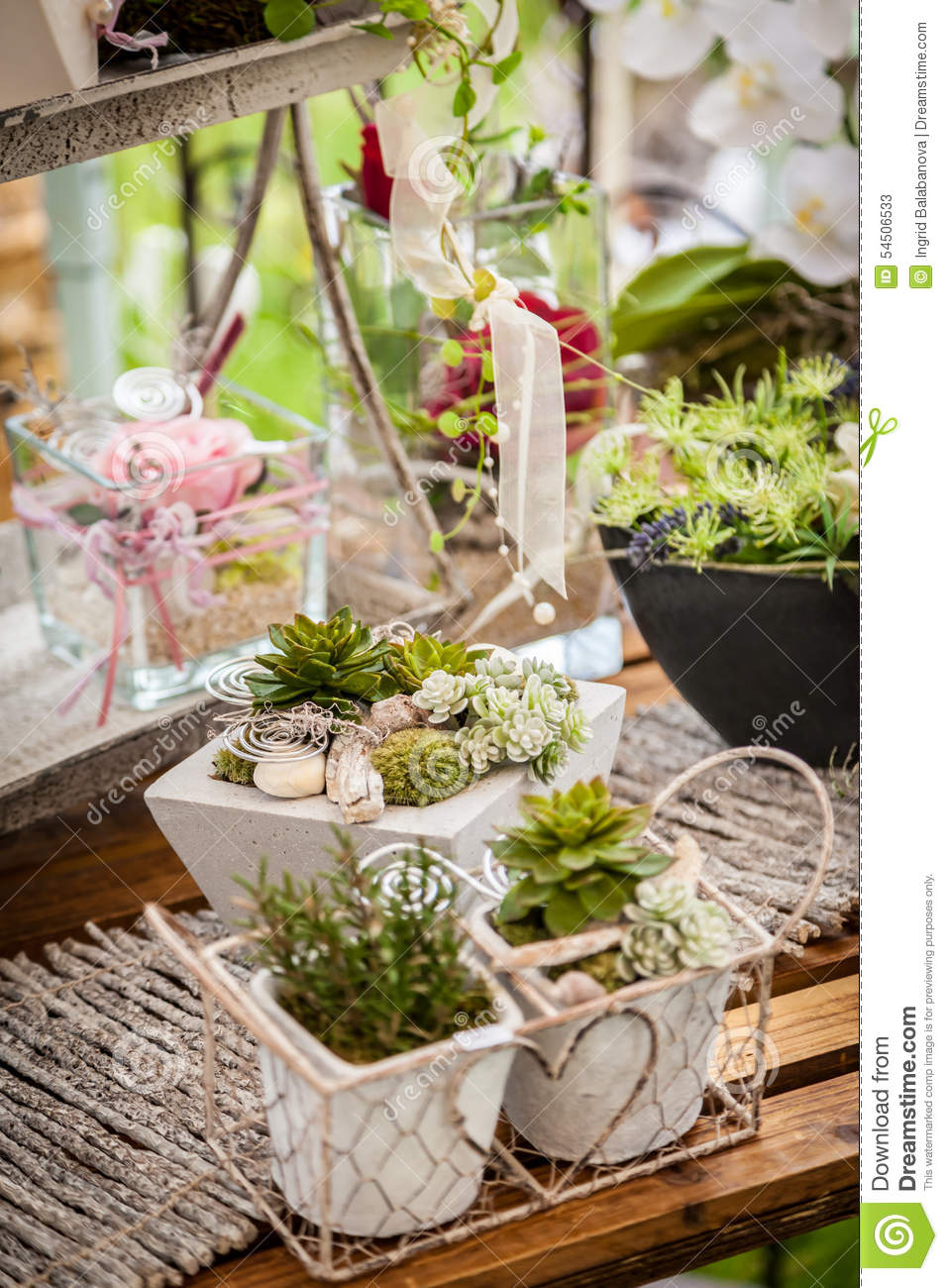 Garden decoration shabby chic style stock image image for Decoration jardin shabby