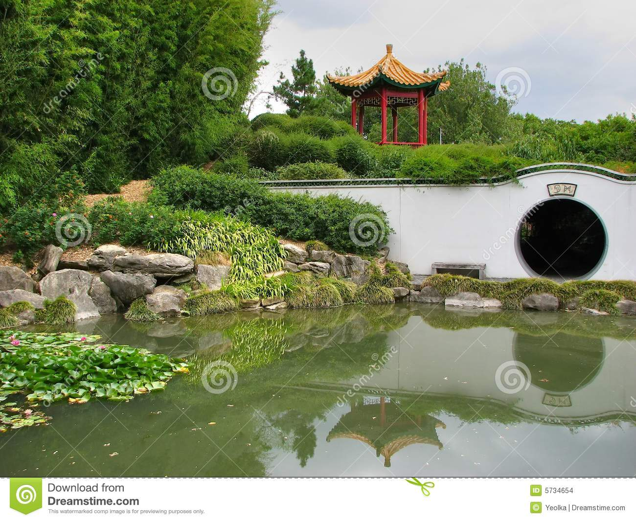 Download Garden Design Stock Photo. Image Of Chinese, Bridge, Garden    5734654