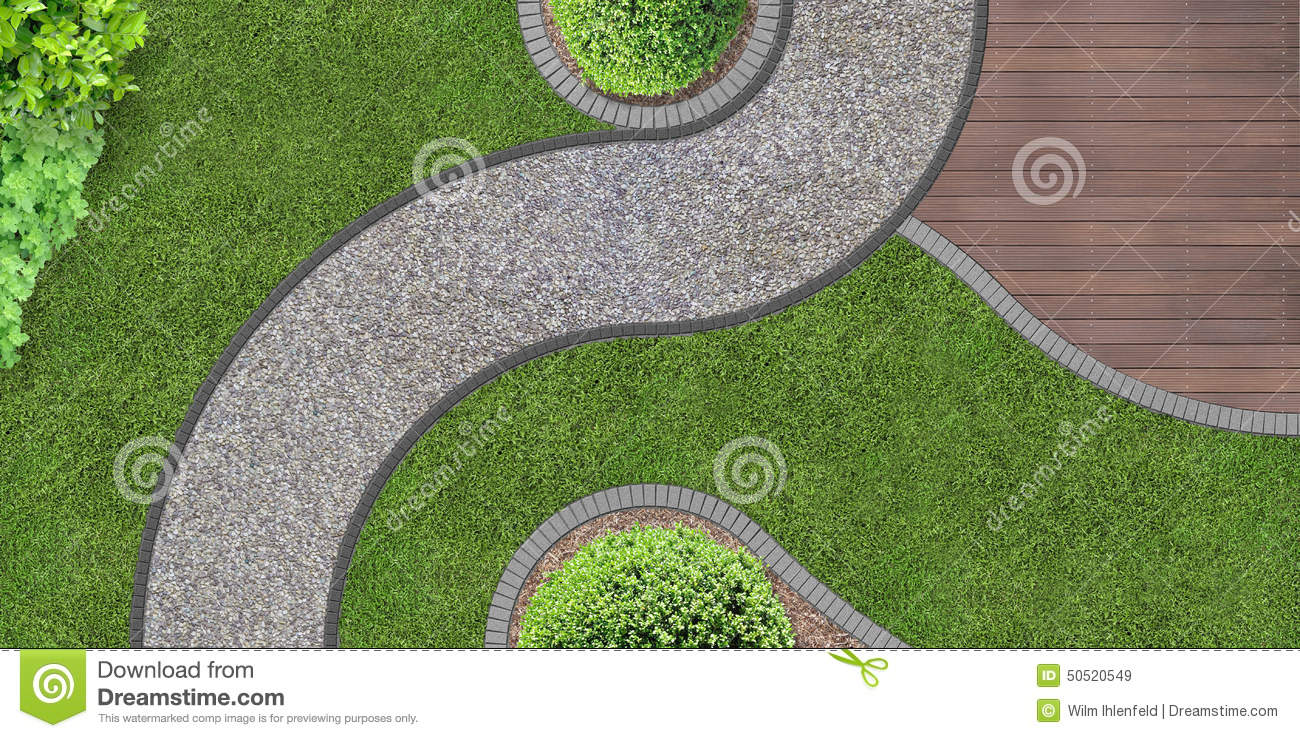 Download Garden Design From Above Stock Image Of Concrete