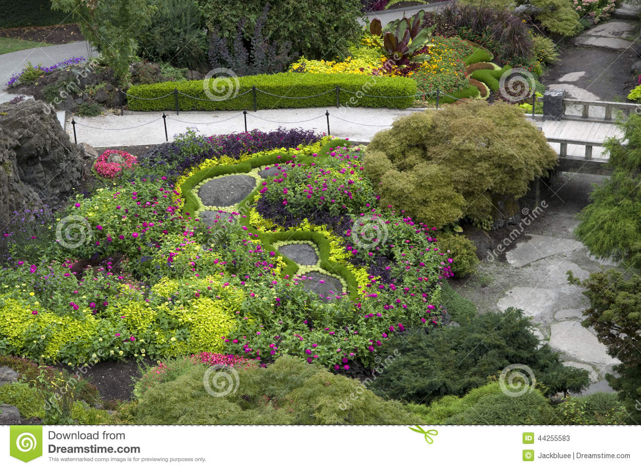 Garden design stock photo image 44255583 for Landscape design canada