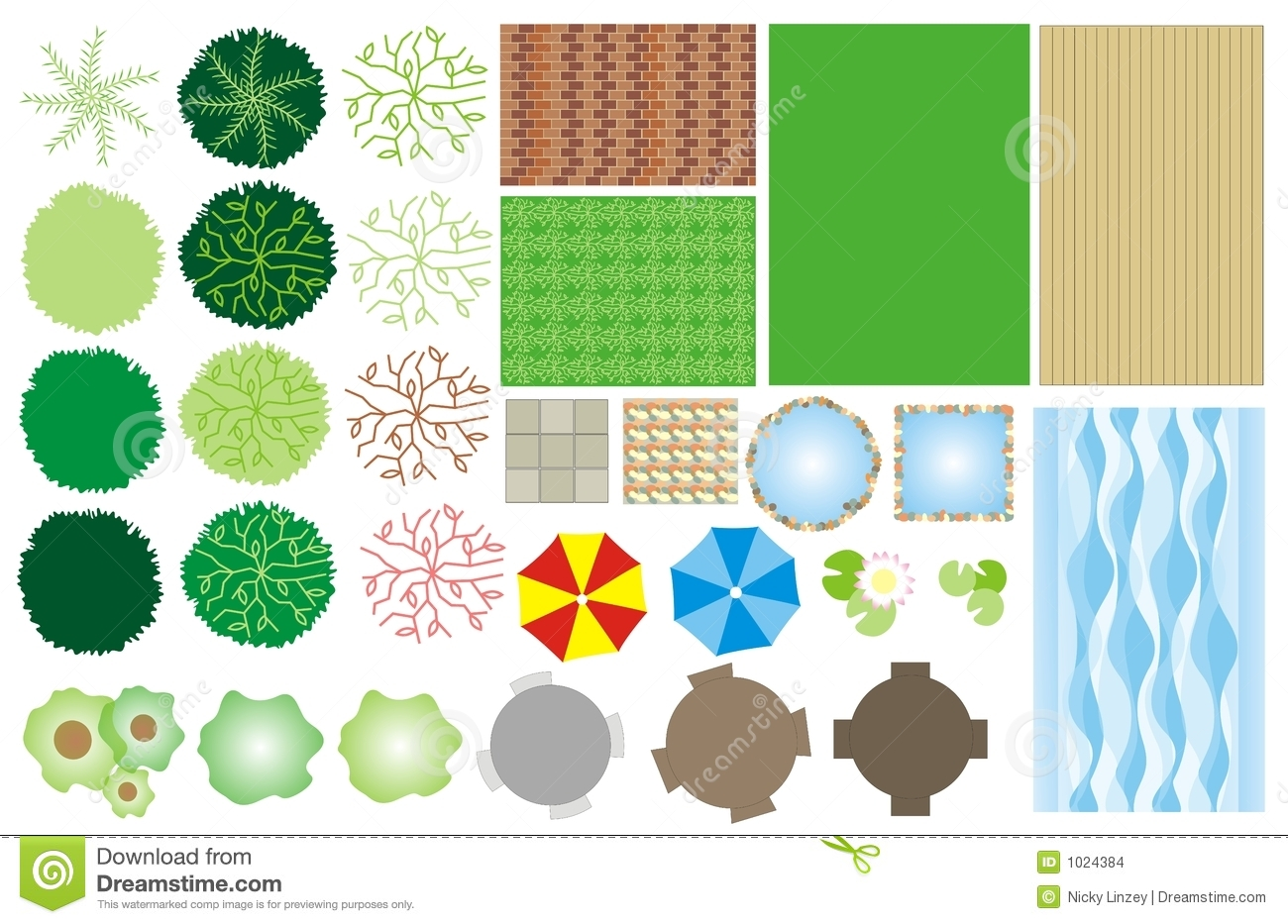 garden design icons stock images image 1024384
