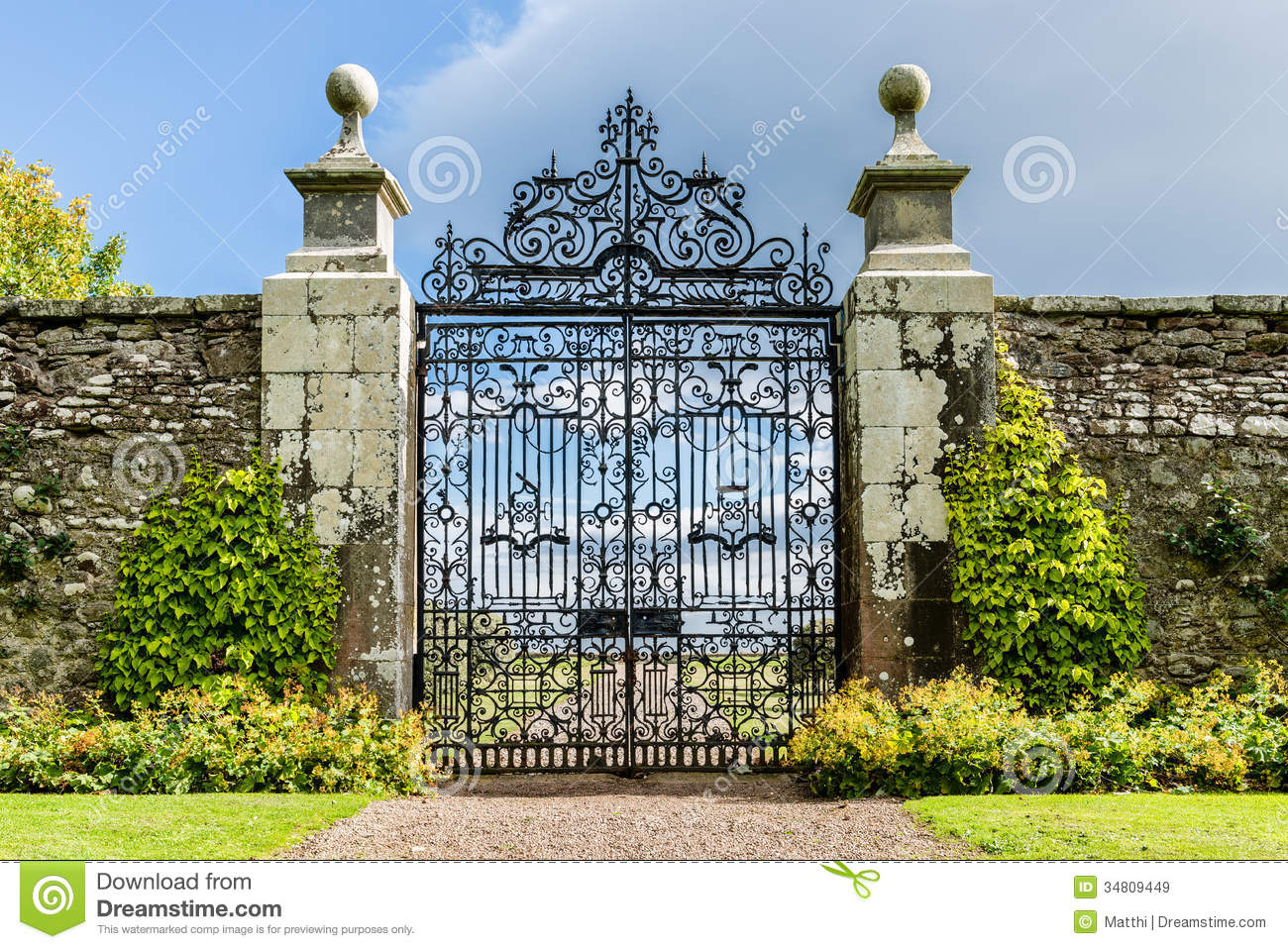 Garden Door Royalty Free Stock Images Image 34809449