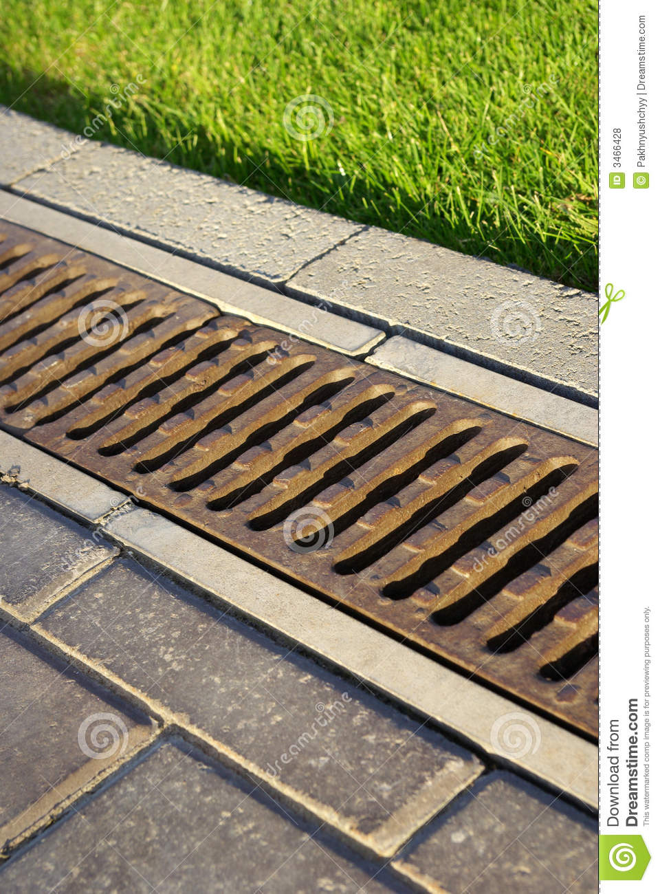 Garden Drain Stock Photo Image Of Covering Golfcourse