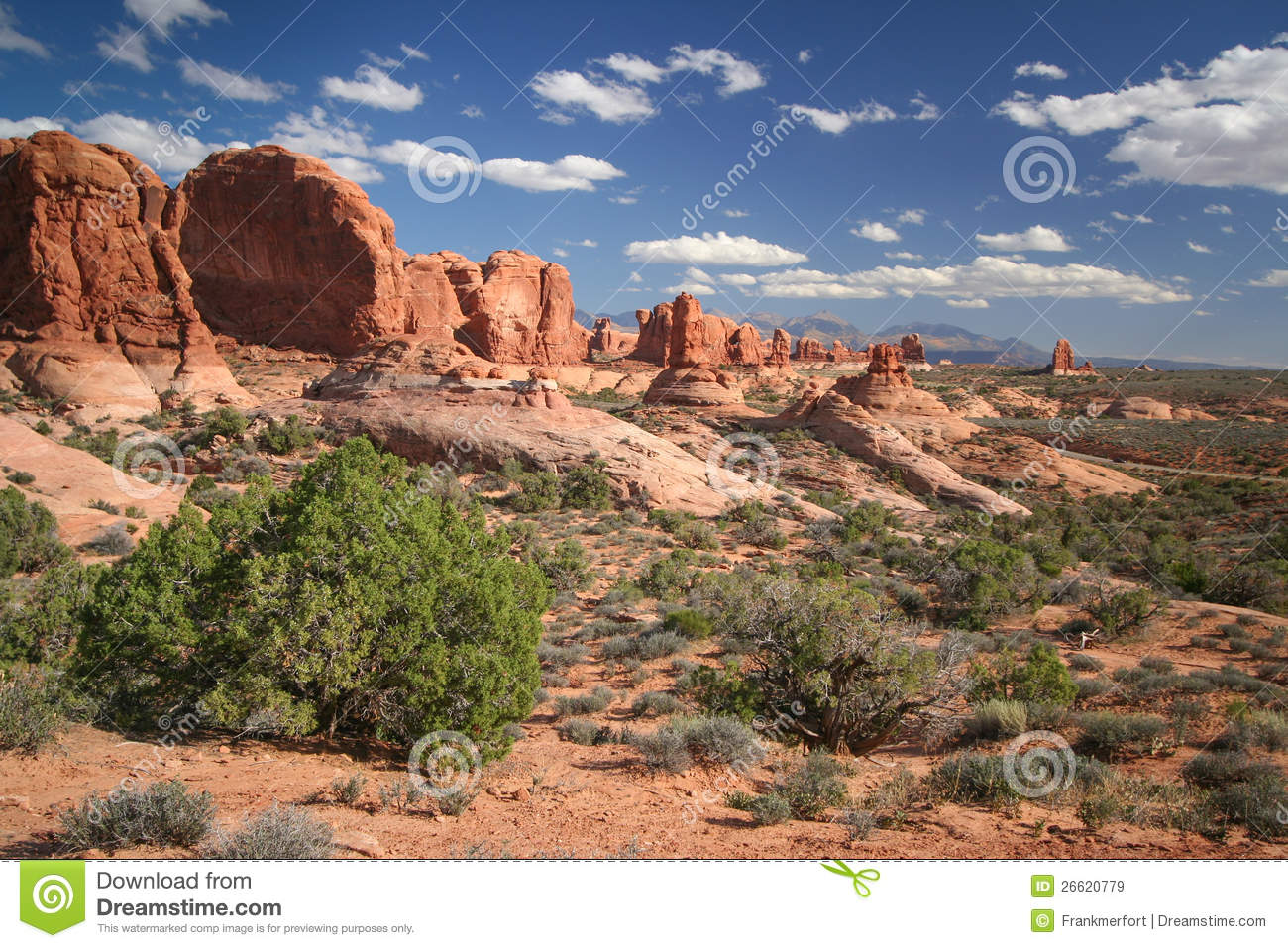 Garden Of Eden At The Arches National Park Stock Image Image 26620779