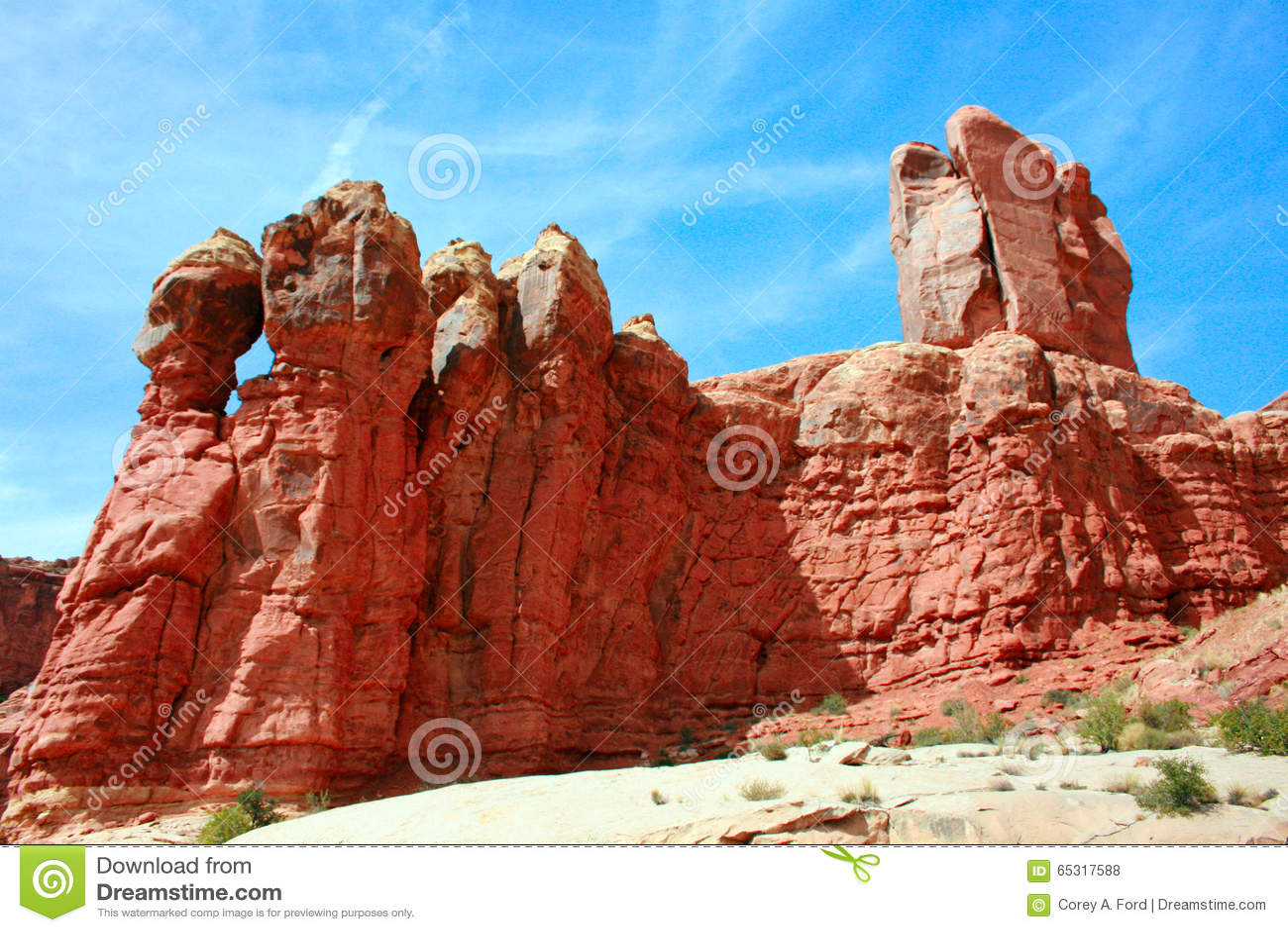 Garden Of Eden Arches National Park Utah Usa Stock Illustration Image 65317588
