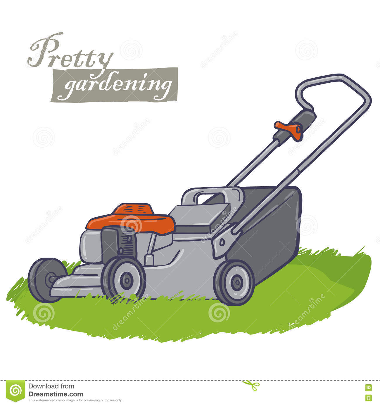 Garden Electric Tools Stock Vector Illustration Of Plant